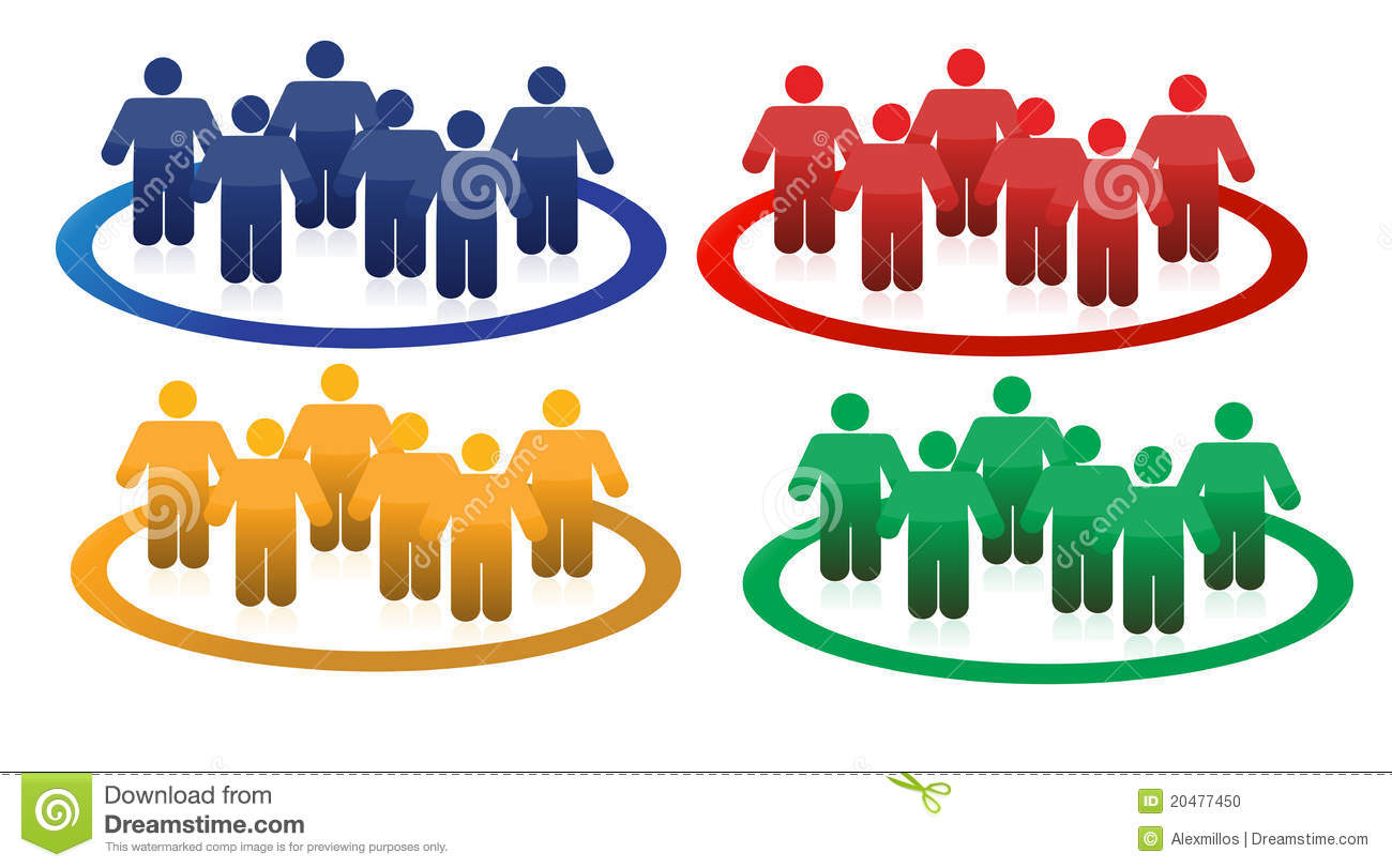 Colorful Teams Illustration Design Stock Illustration