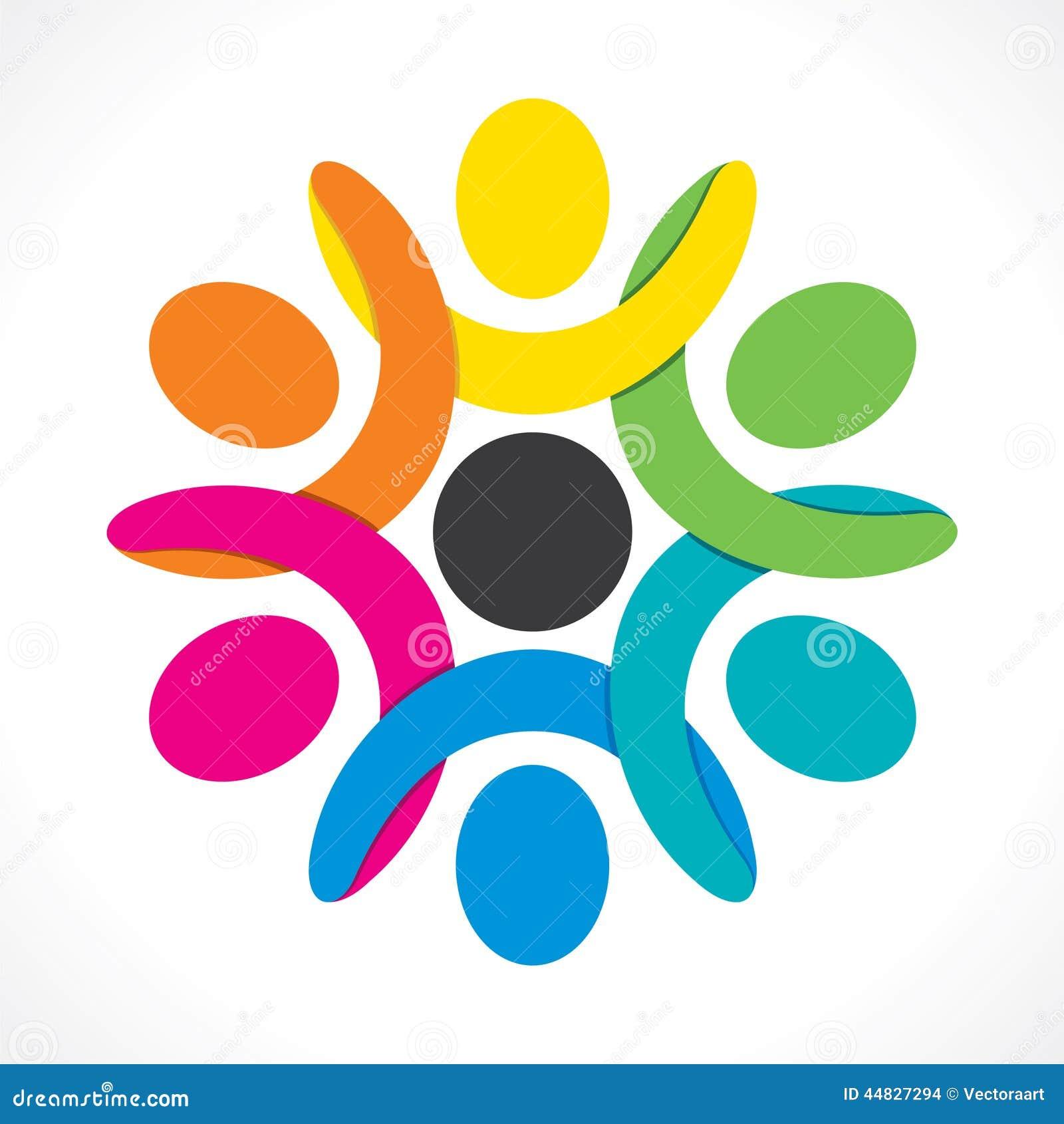 Colorful Teamwork Or U...