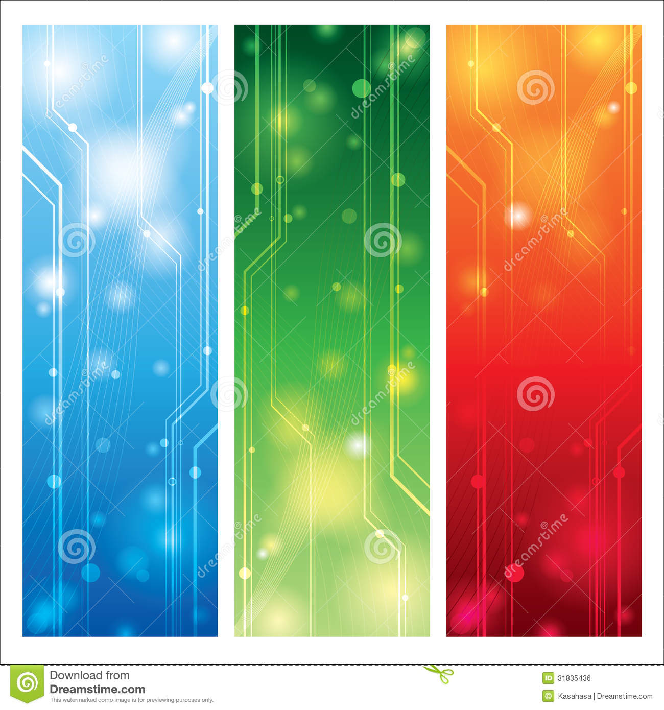Colorful Technical Background Vector Royalty Free Stock