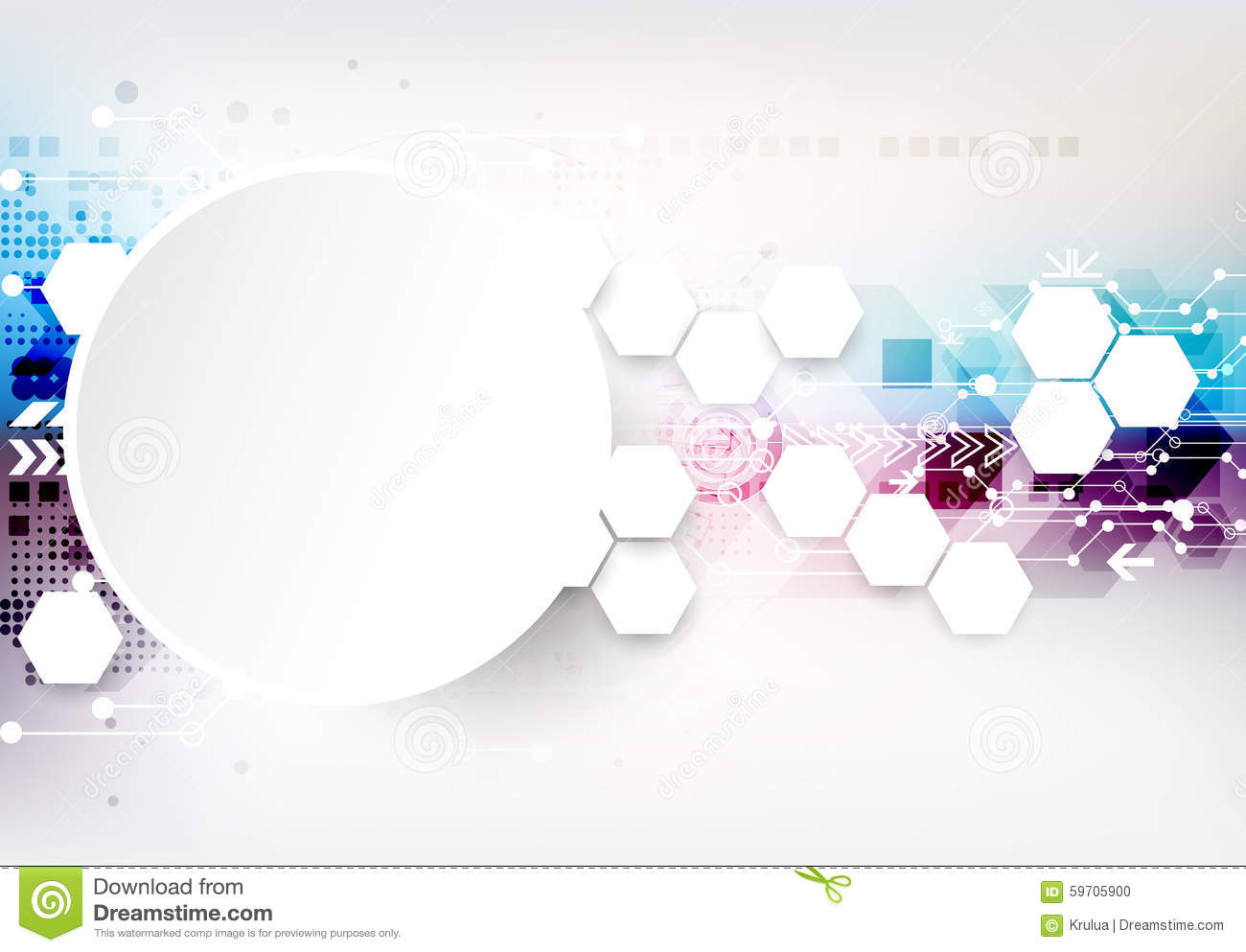 Colorful Techno Background Schematic. Stock Vector - Illustration of