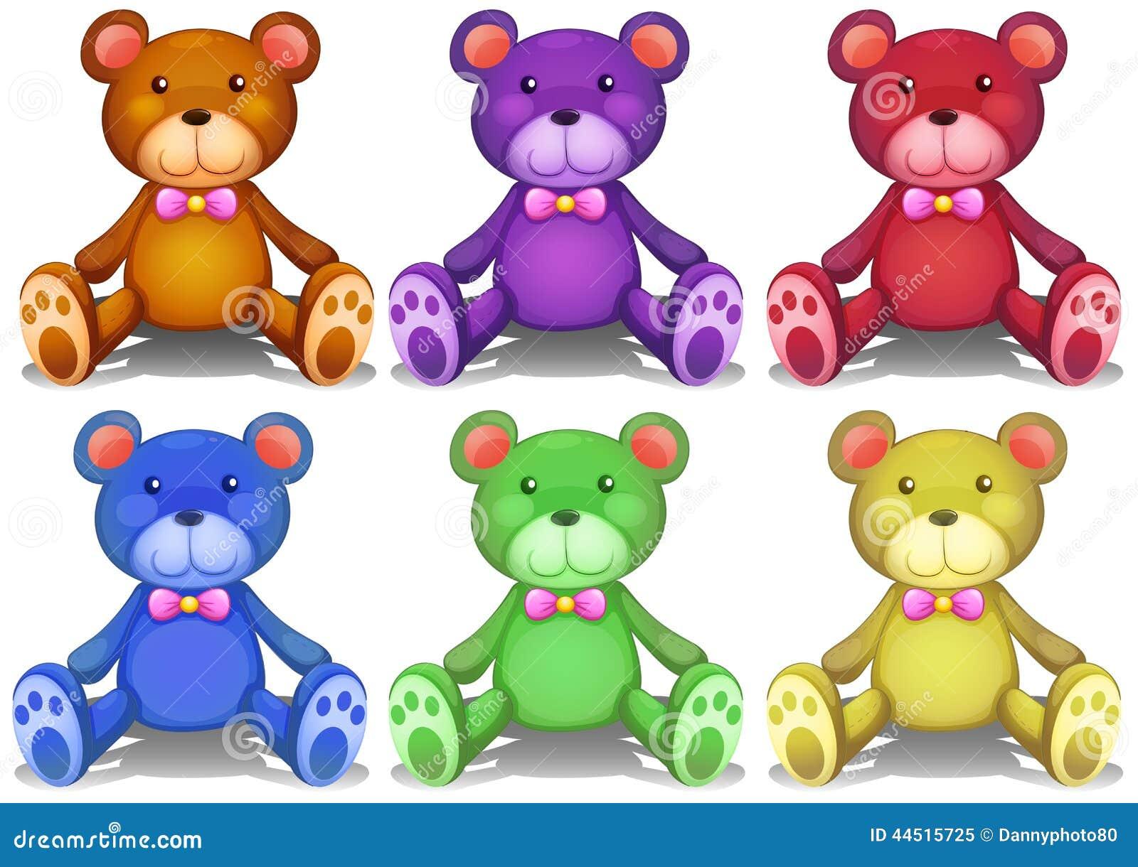 Colorful Teddy Bears Stock Vector - Image: 44515725 - photo#22