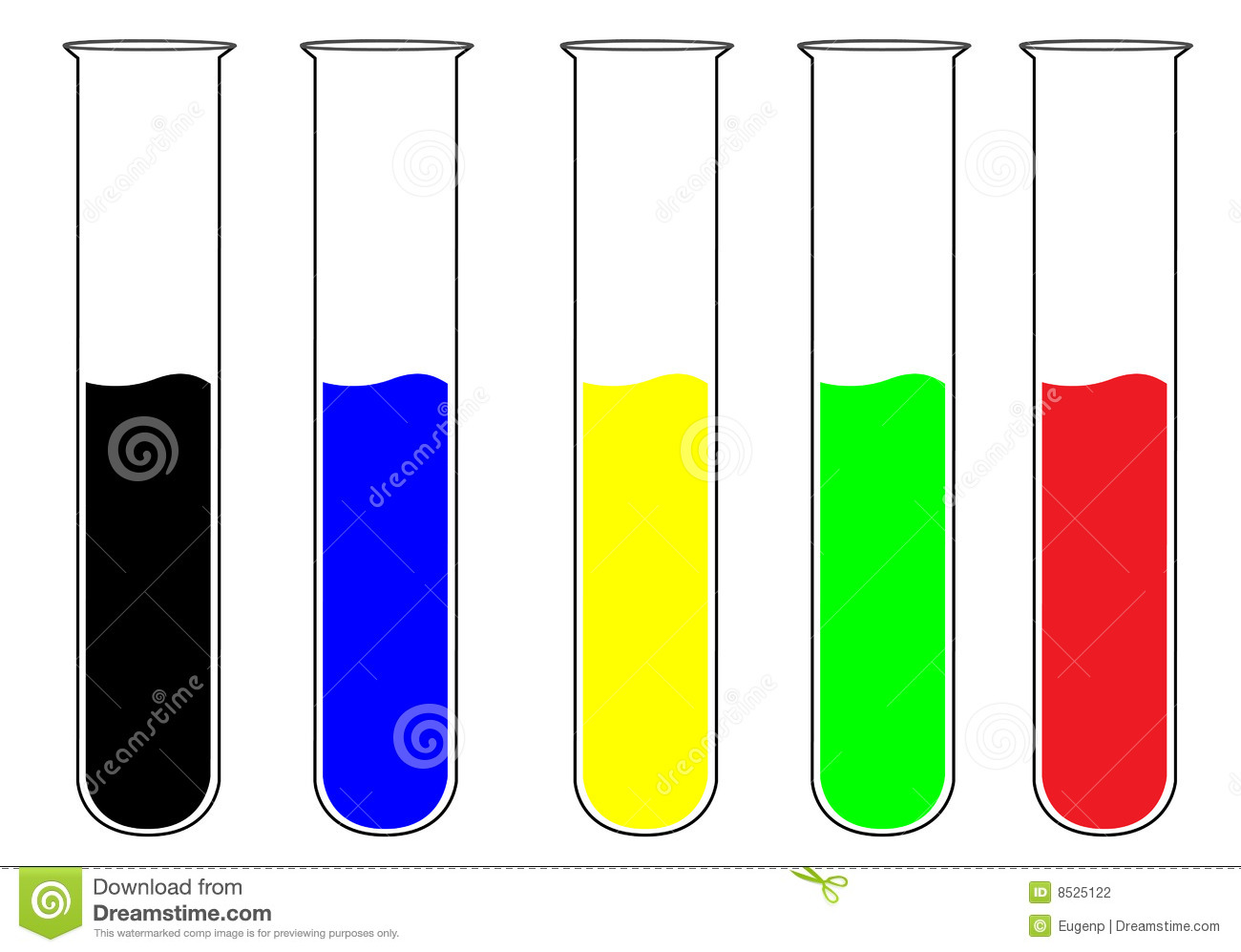 colorful test tubes stock vector image of analysis  green DNA Double Helix Clip Art DNA Cartoon