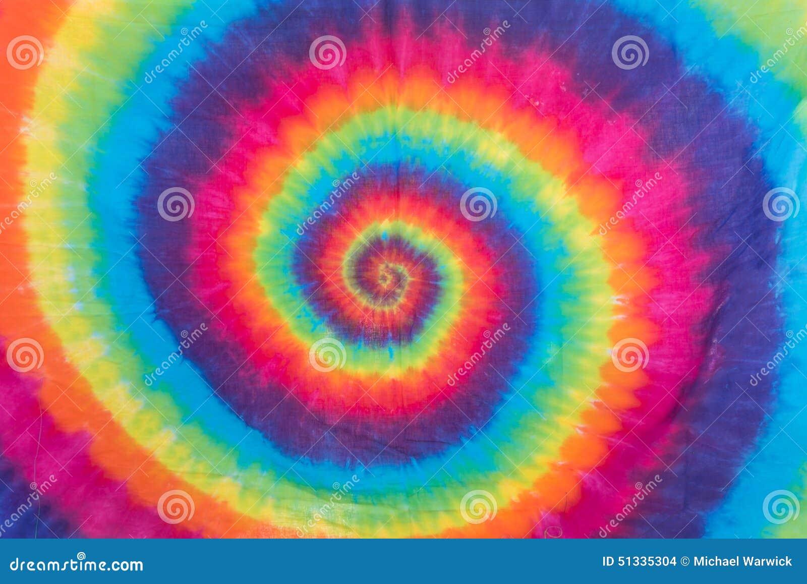 Colorful Tie Dye Spiral Pattern Design