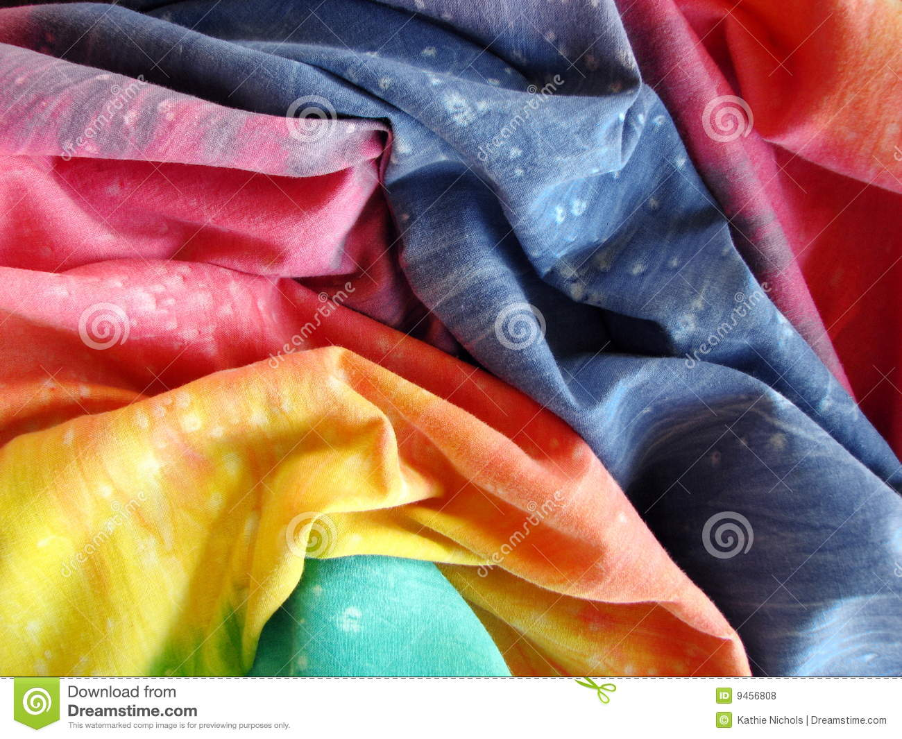 Colorful Tie-dyed fabric