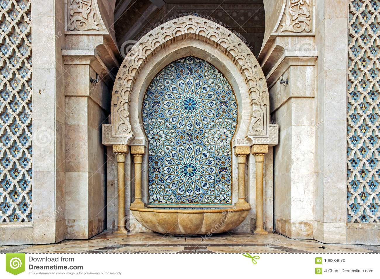 Colorful Tiles On Wall At Hassan II Mosque Editorial Image - Image ...