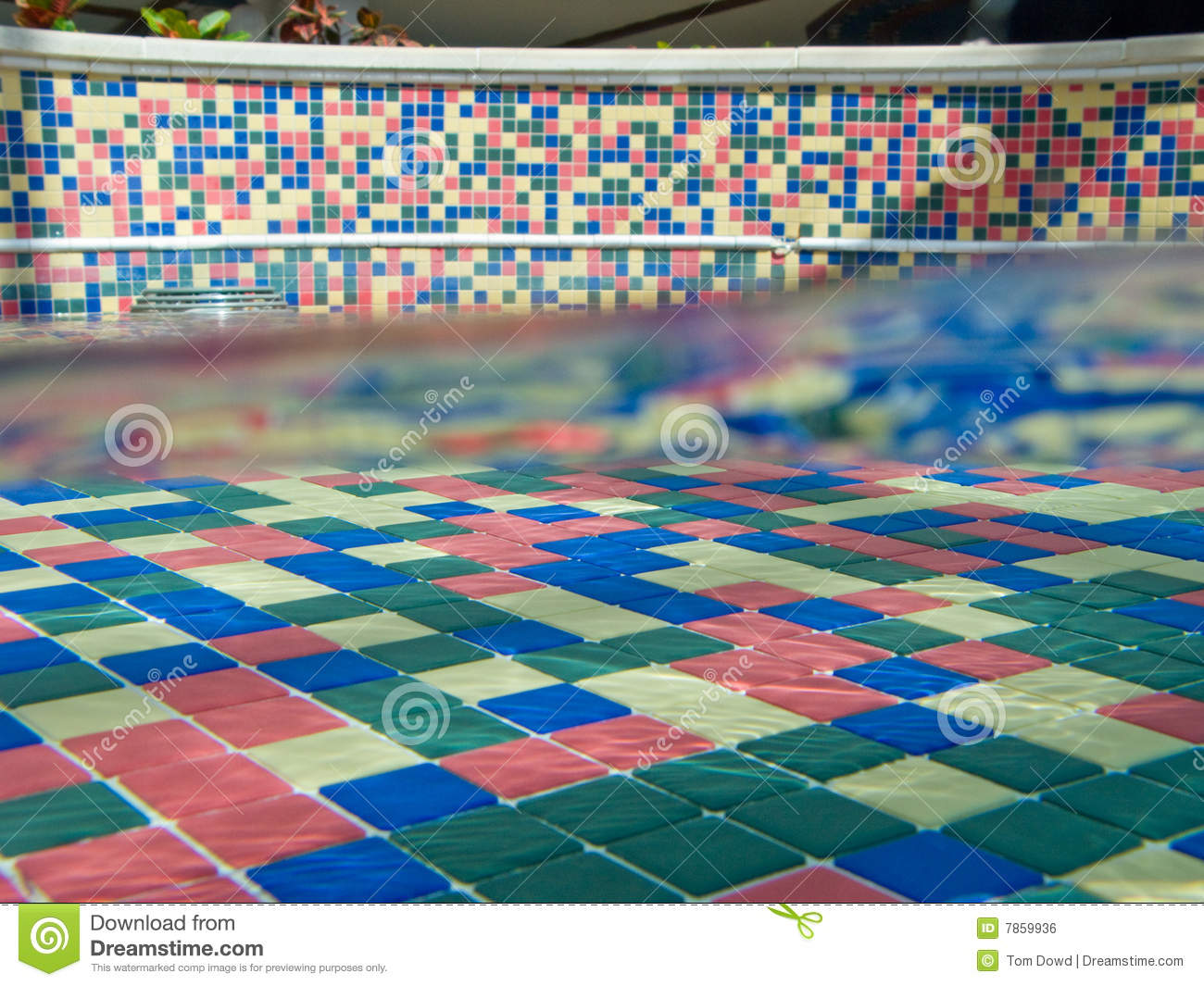 Colorful tiled pool stock photo. Image of background, color - 7859936