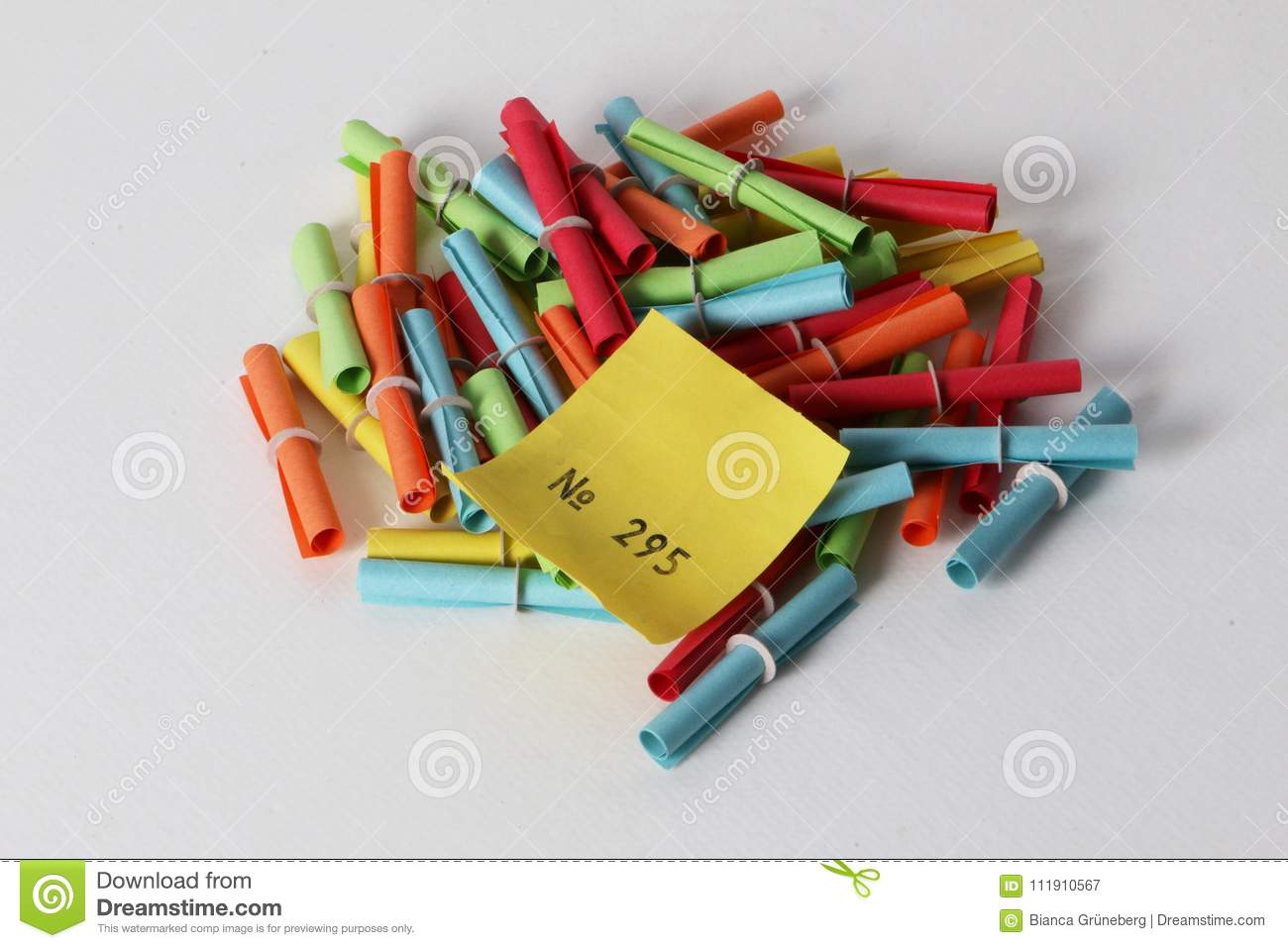 colorful tombola tickets with a winning number stock image image