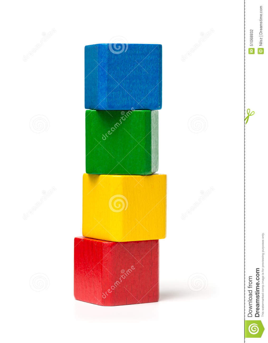 Colorful Toy Blocks Tower