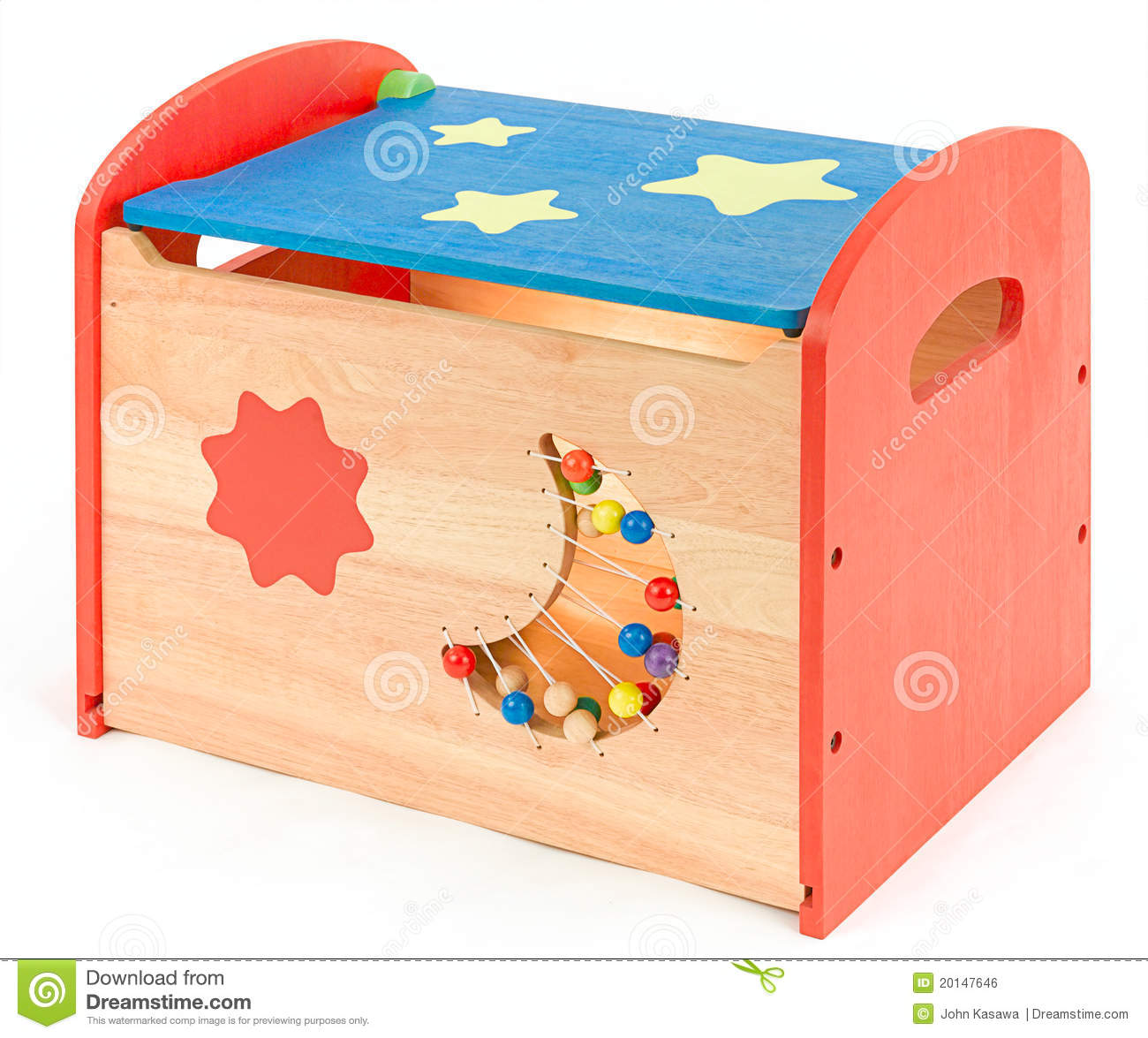Colorful Toy Box For Kids Royalty Free Stock Image - Image: 20147646