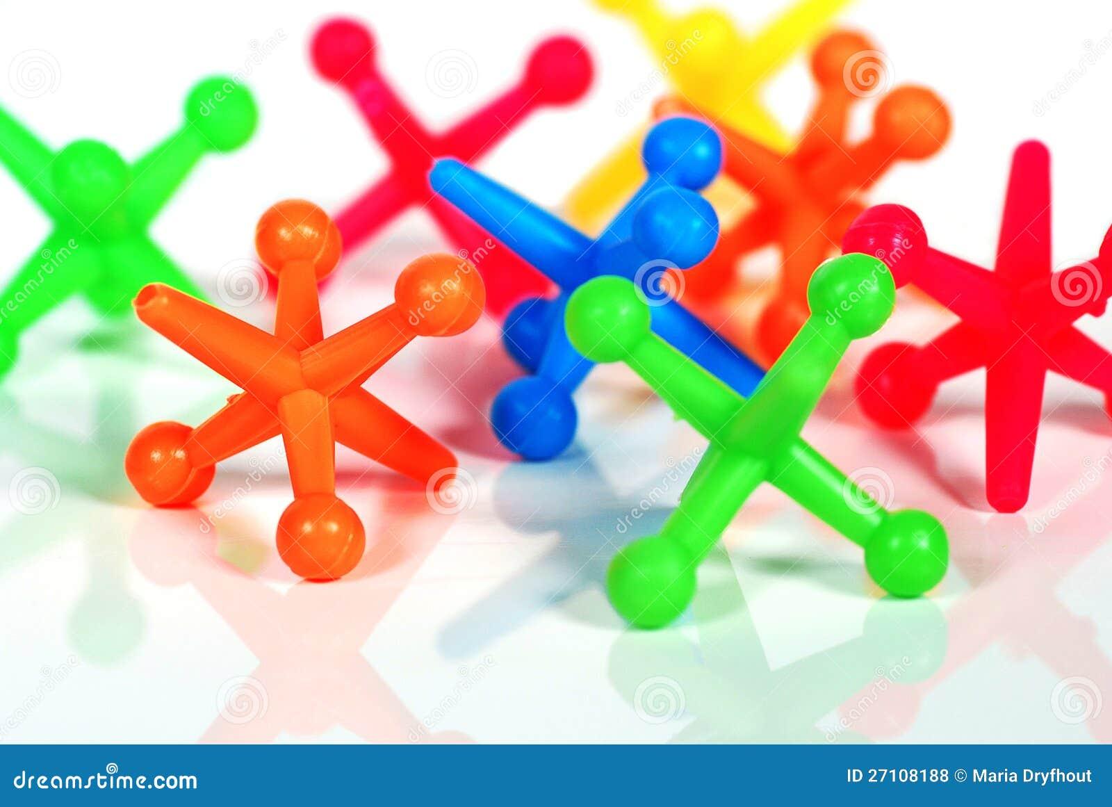 Colorful Toy Jacks stock photo. Image of blue, reflect ...