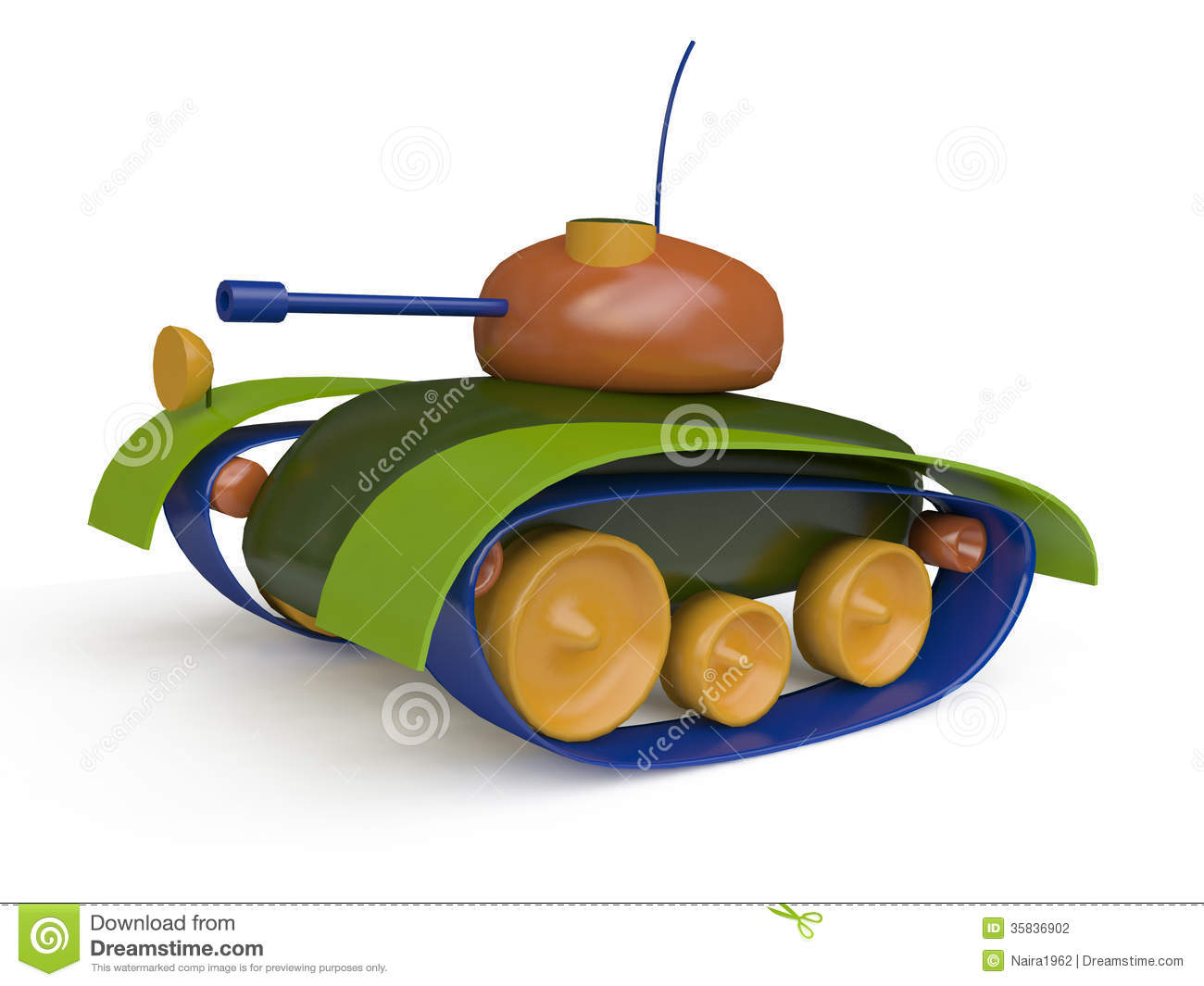 Wooden Toy Tank - Viewing Gallery