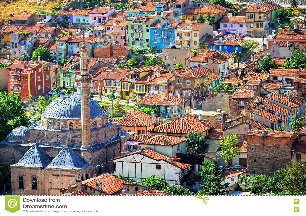 Colorful Traditional Ottoman Houses Afyon Turkey Stock Photo Image Of Eastern Historic 73270190