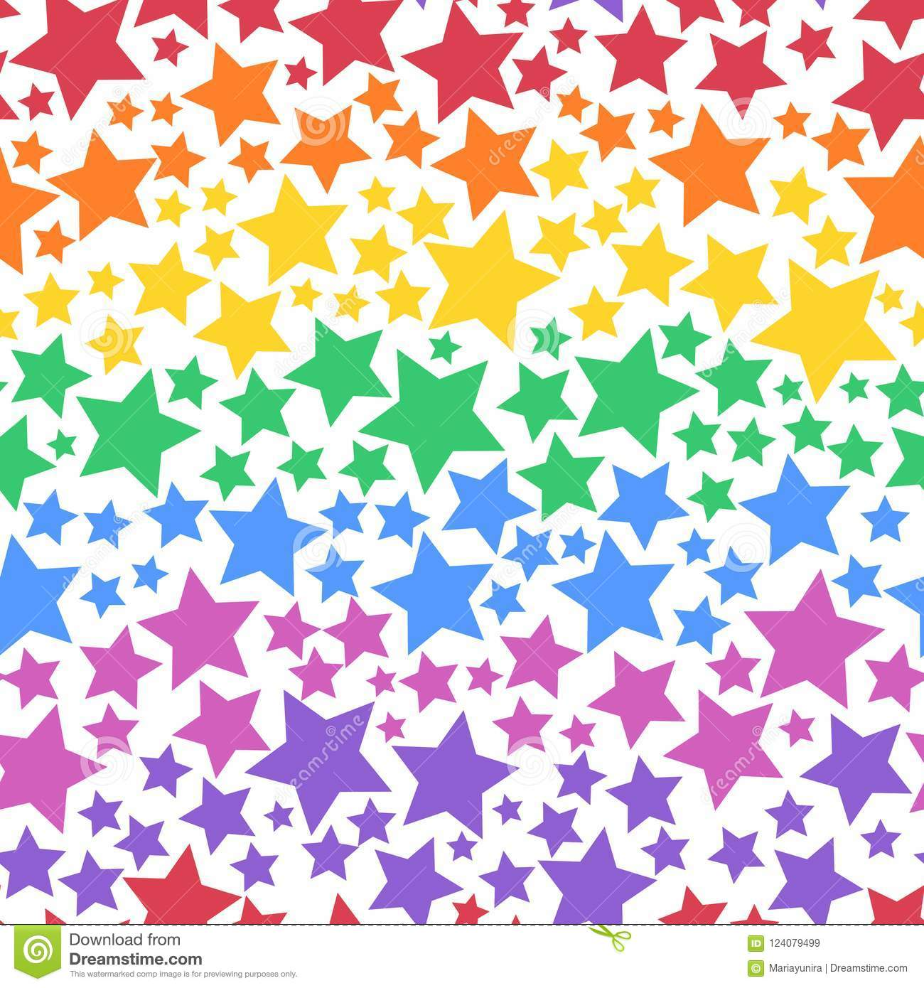 Colorful transparent star background for party wallpaper and accessories. PNG additional file.