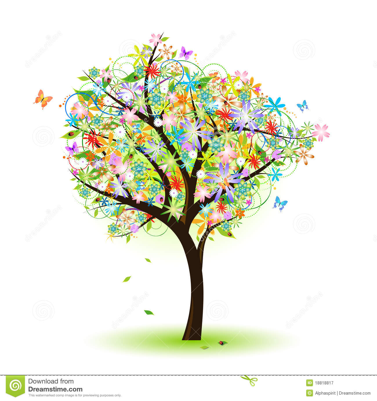 Colorful tree stock vector. Illustration of vector, ecology - 18818817