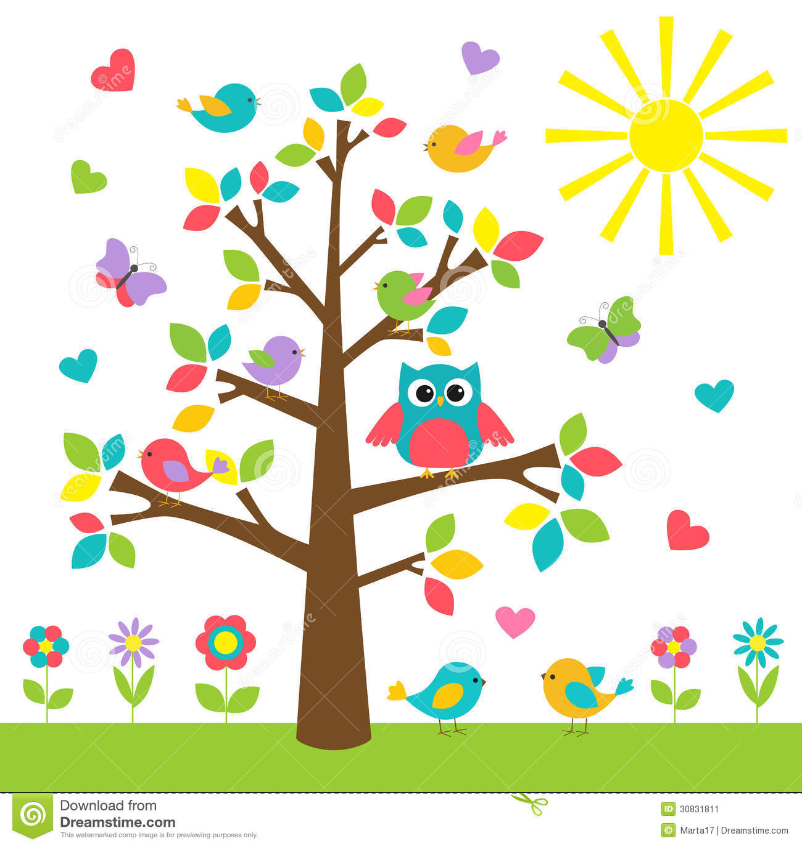 Colorful Tree Stock Image - Image: 30831811