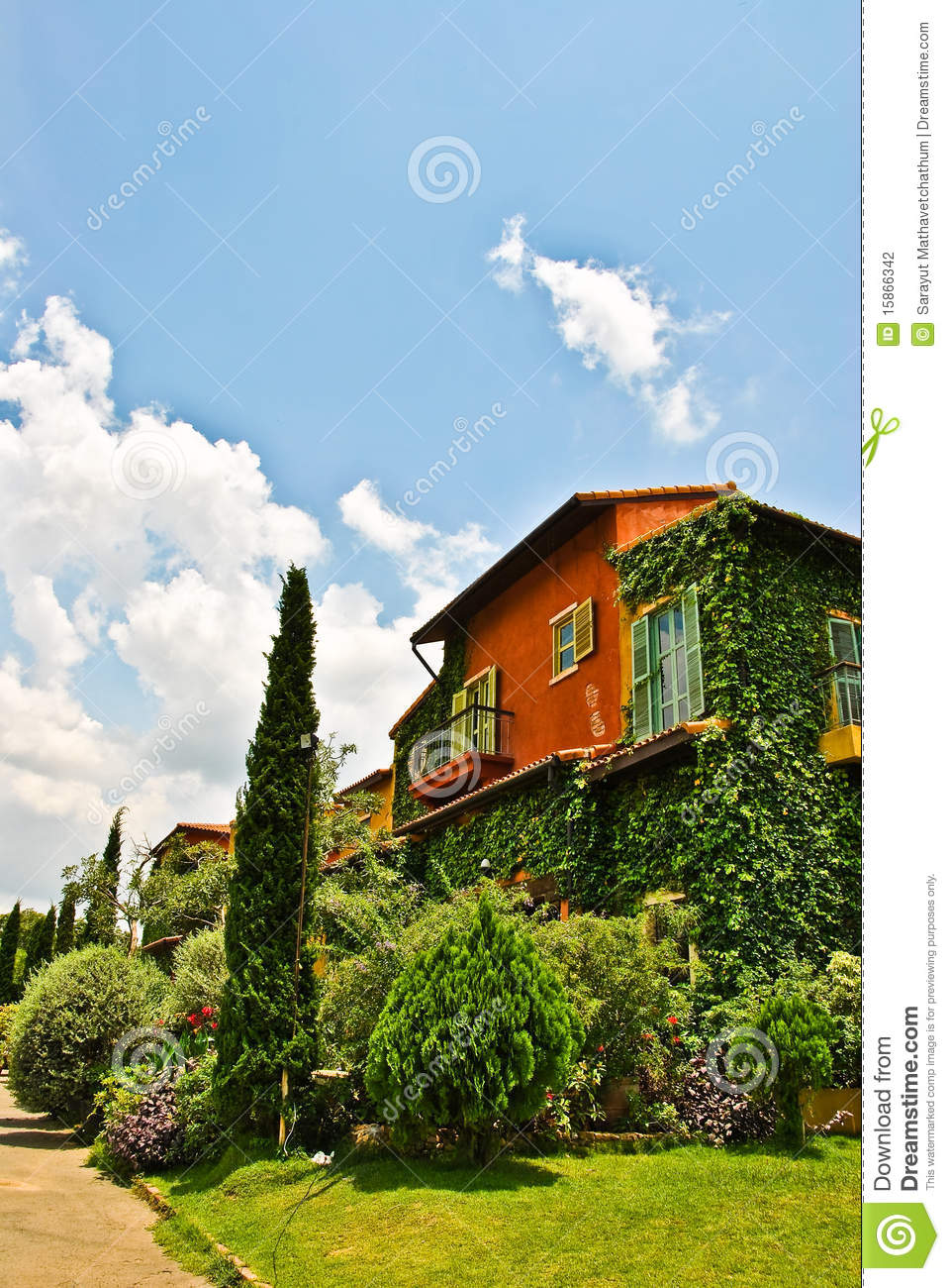 Colorful tree house stock photography image 15866342 for Colorful tree house