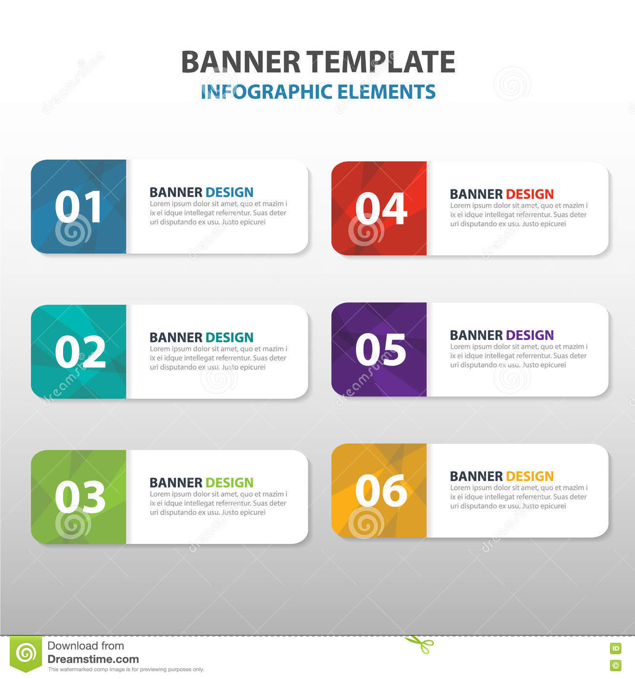 Orange Abstract Triangle Corporate Business Banner Template ...