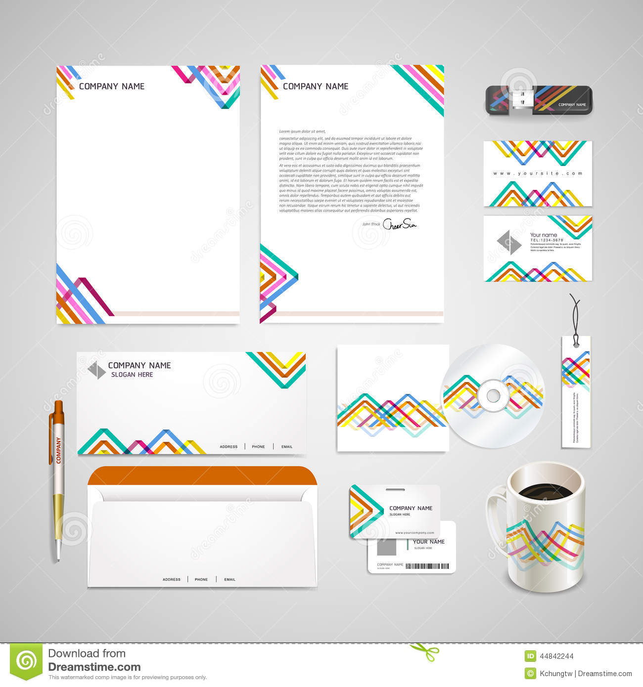 Colorful Triangle Pattern Background Corporate Identity