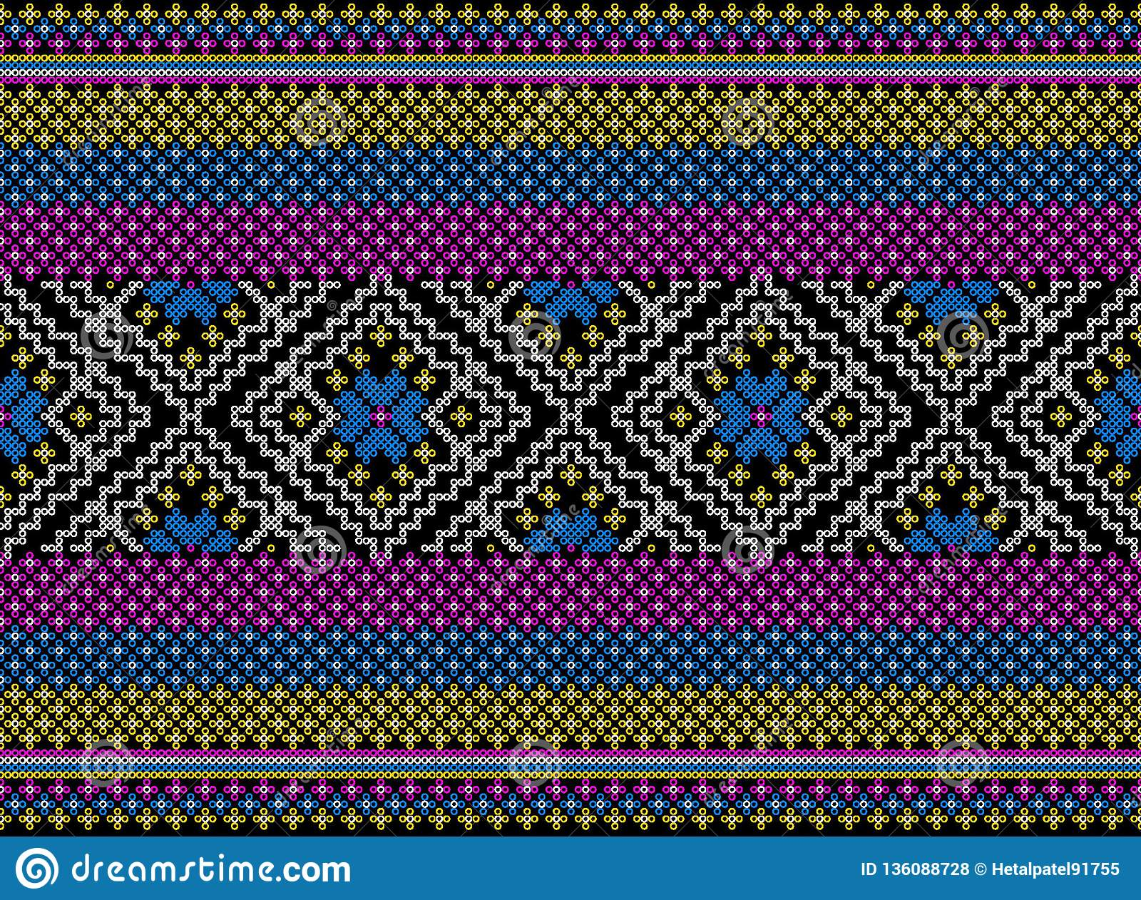 Colorful tribal and Aztec seamless pattern