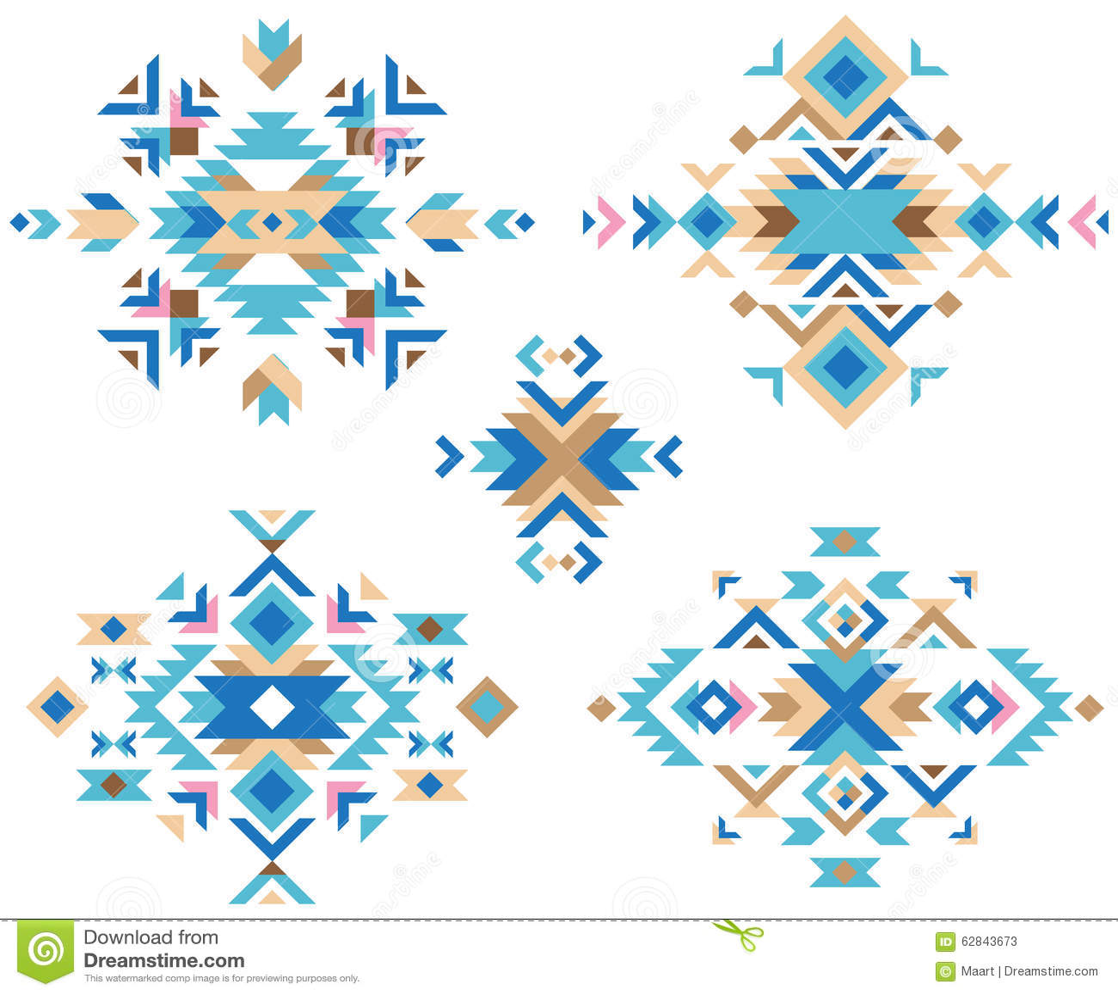 colorful tribal design elements stock illustration image