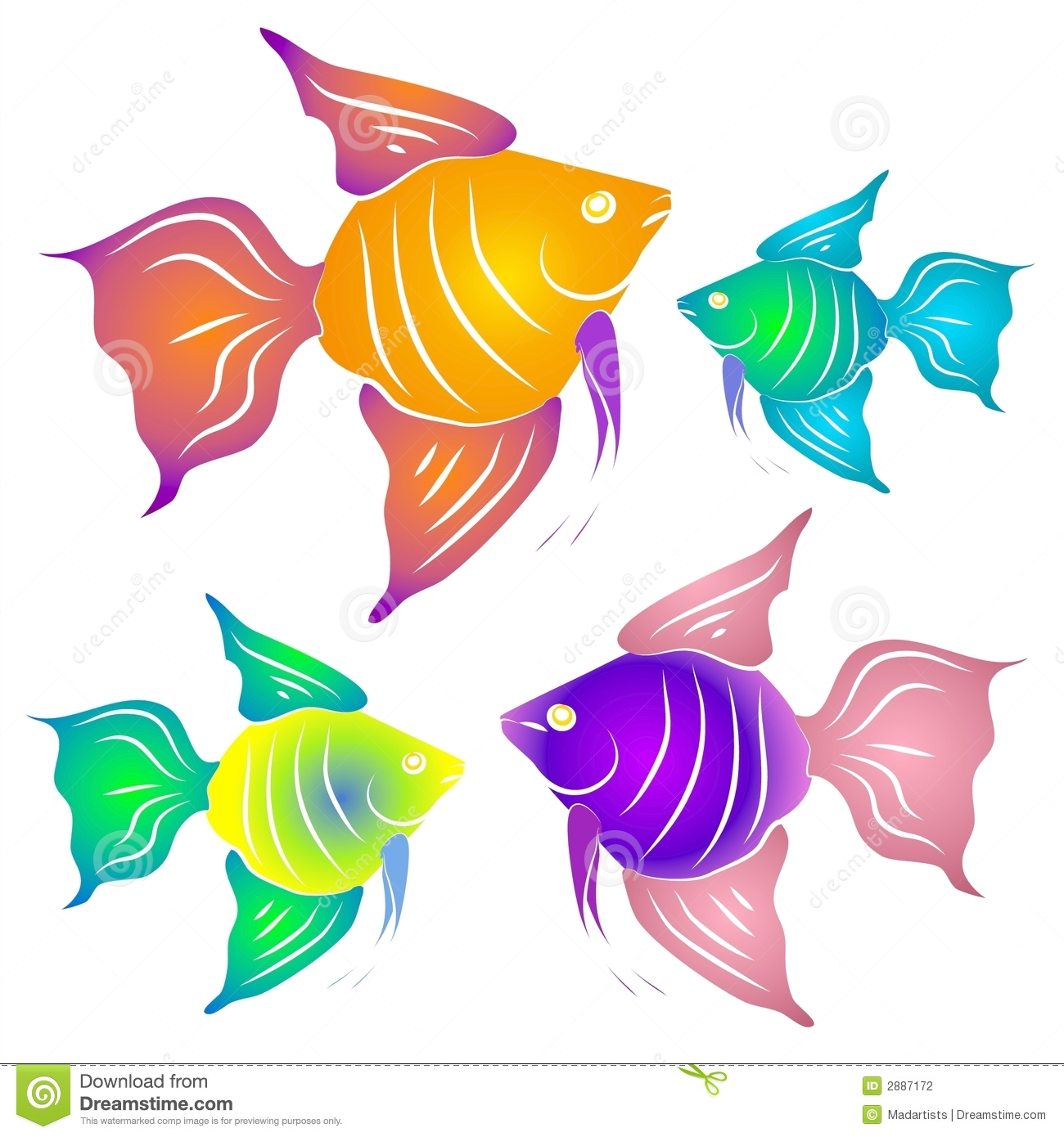 Colorful Tropical Fish Clipart Stock Photography - Image: 2887172