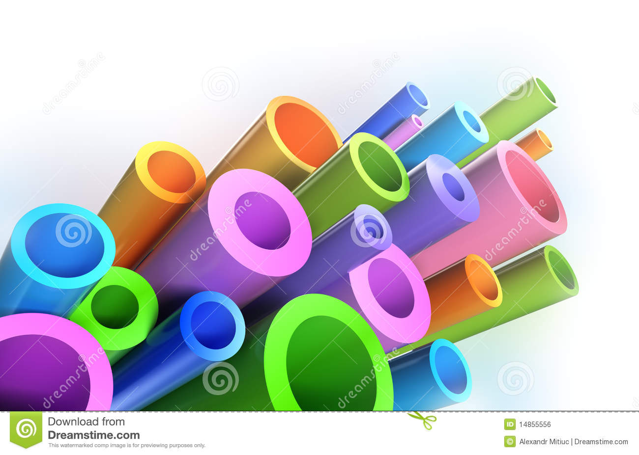 Colorful tubes . Background pattern
