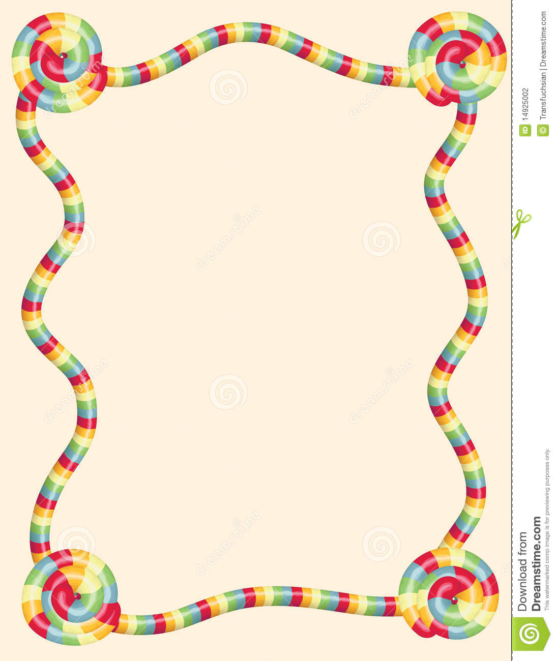 Colorful Twisted Candy Border Stock Photography - Image: 14925002