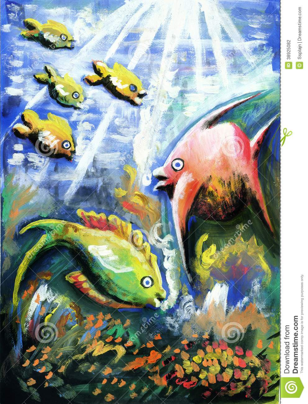 Colorful Marine Life Underwater On The Seabed Stock Photo ... |Colorful Underwater Life