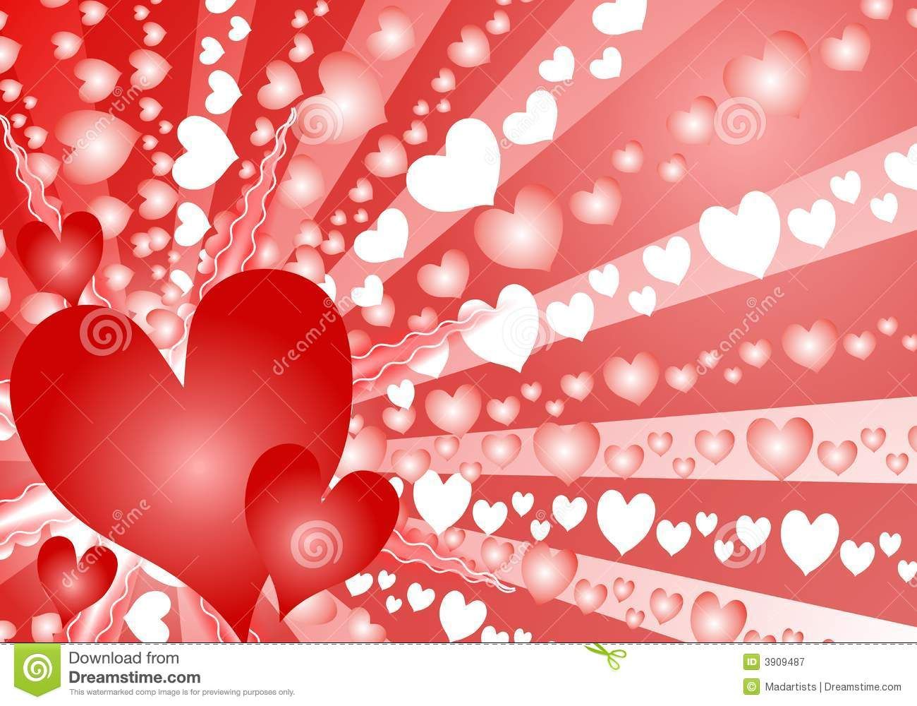 Colorful Valentine S Day Heart Background Stock Illustration
