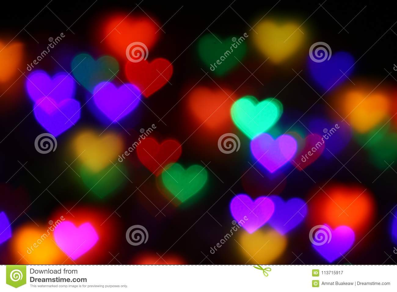 Royalty Free Stock Photo Download Valentines Colorful Heart Shaped