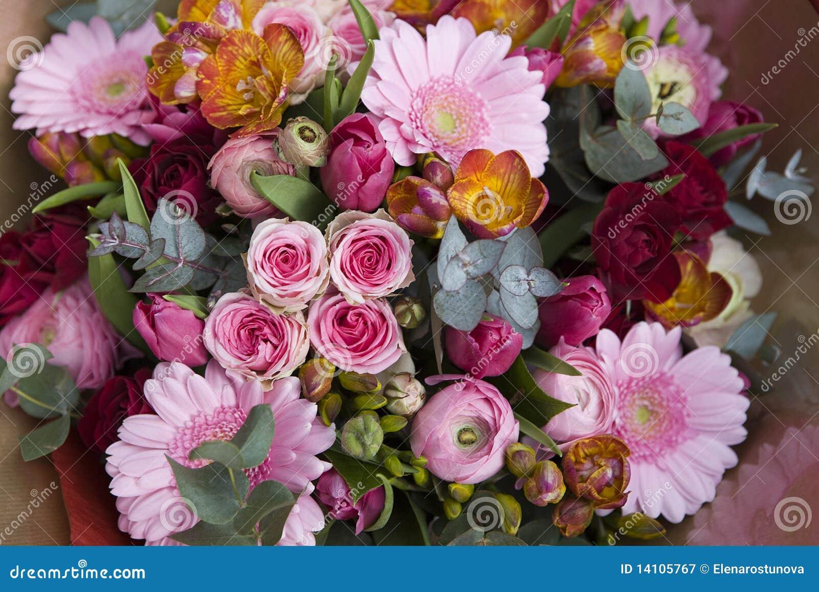 Colorful Variety Of Flowers Stock Image Image Of Celebration