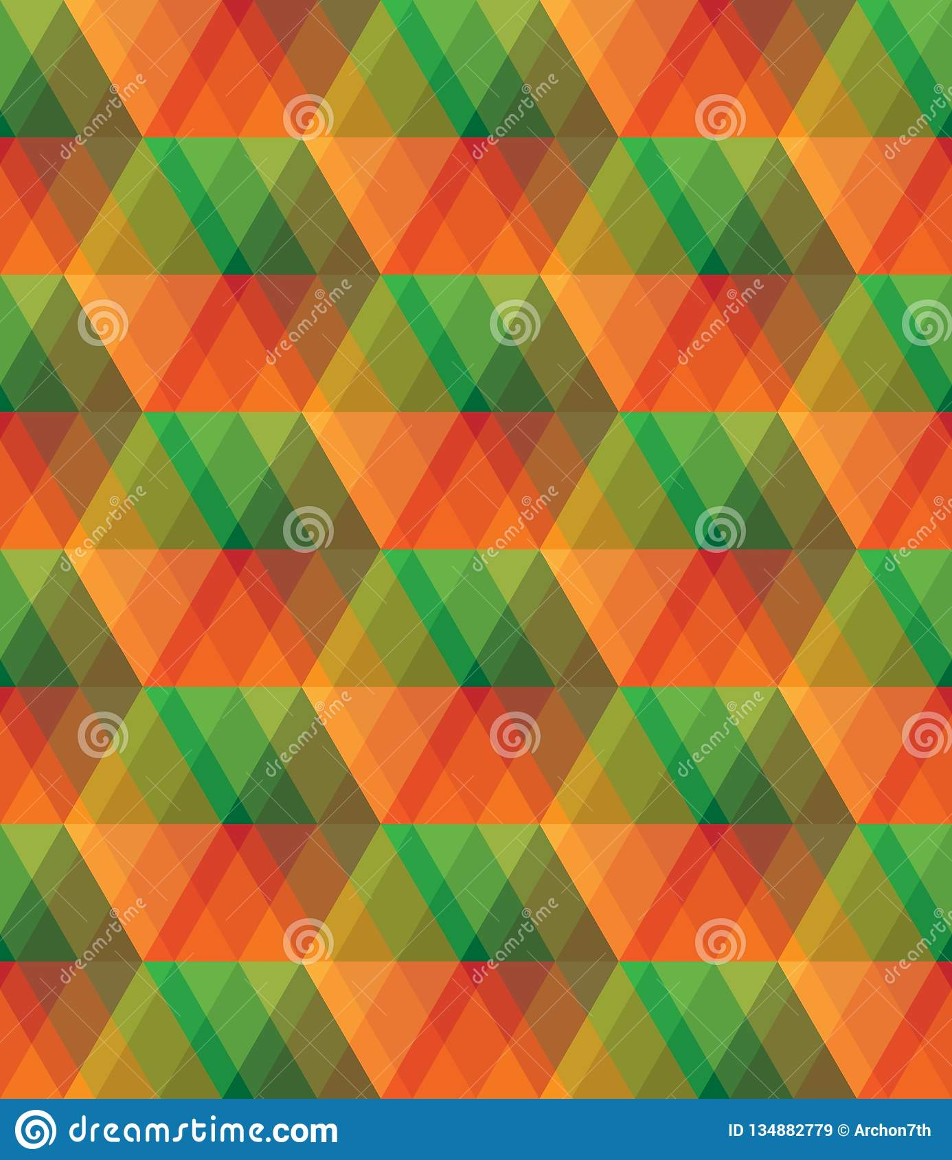 Colorful Glass Vector Abstract Mosaic Seamless Pattern Stock