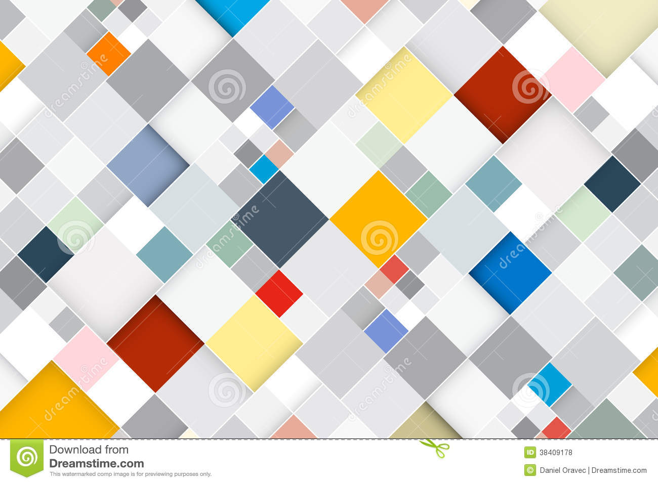 Colorful Vector Abstract Square Retro Background