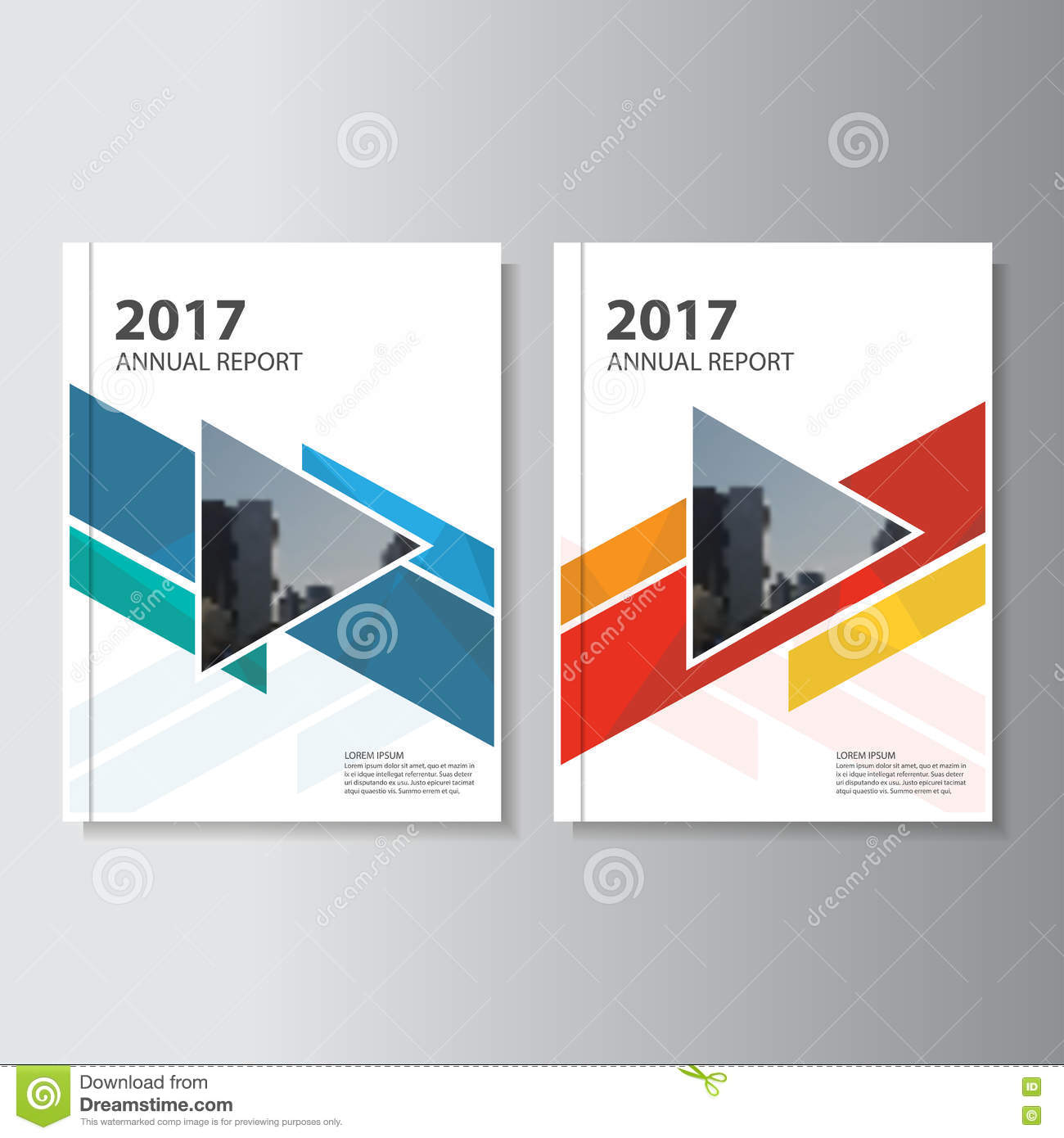 Book Cover Layout Design Vector ~ Colorful vector annual report leaflet brochure flyer