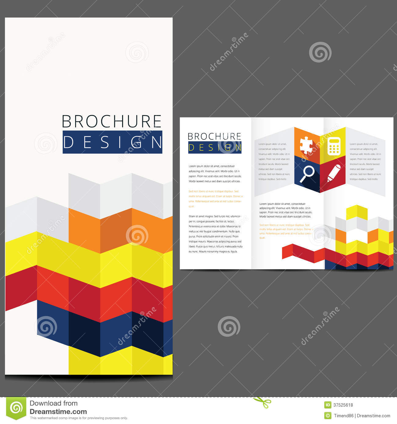 Colorful vector brochure layout design royalty free stock for Colorful brochure design