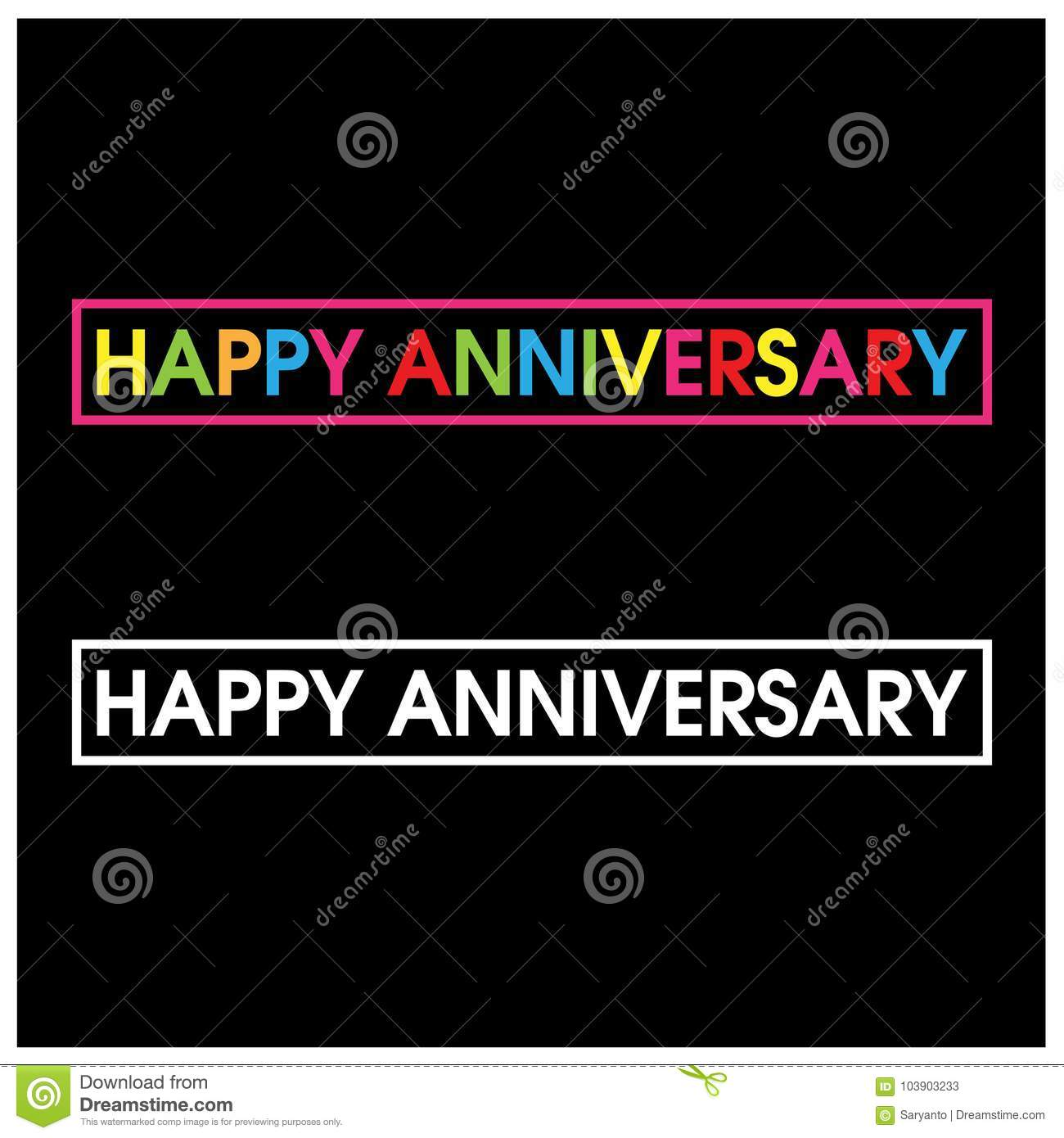 download colorful vector letters icon word happy anniversary vector stock vector illustration of graphic