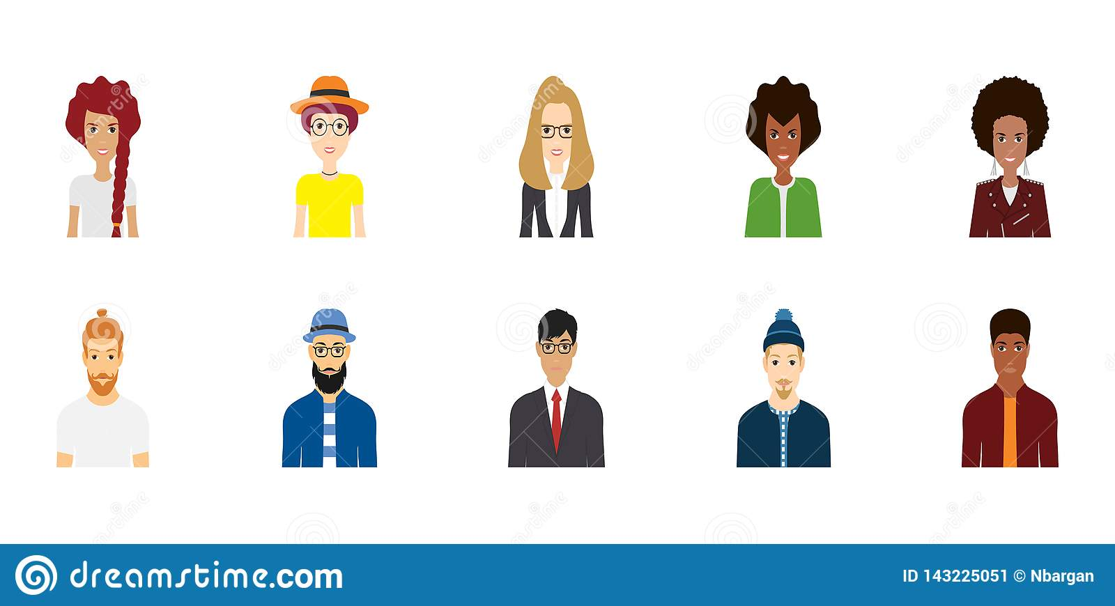 avatar character design colorful vector people avatar collection. vector design of