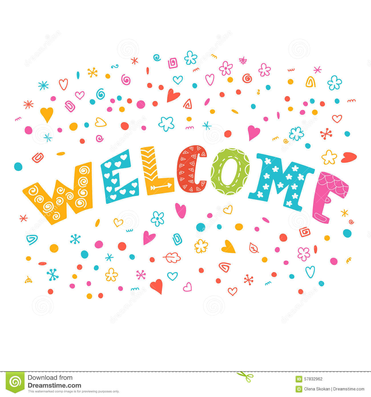 Colorful Vector Welcome Background With Different Design ...
