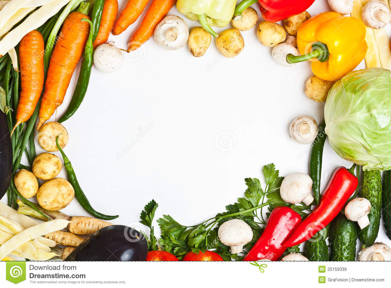 Colorful vegetable frame stock image. Image of food, cucumber - 25159339