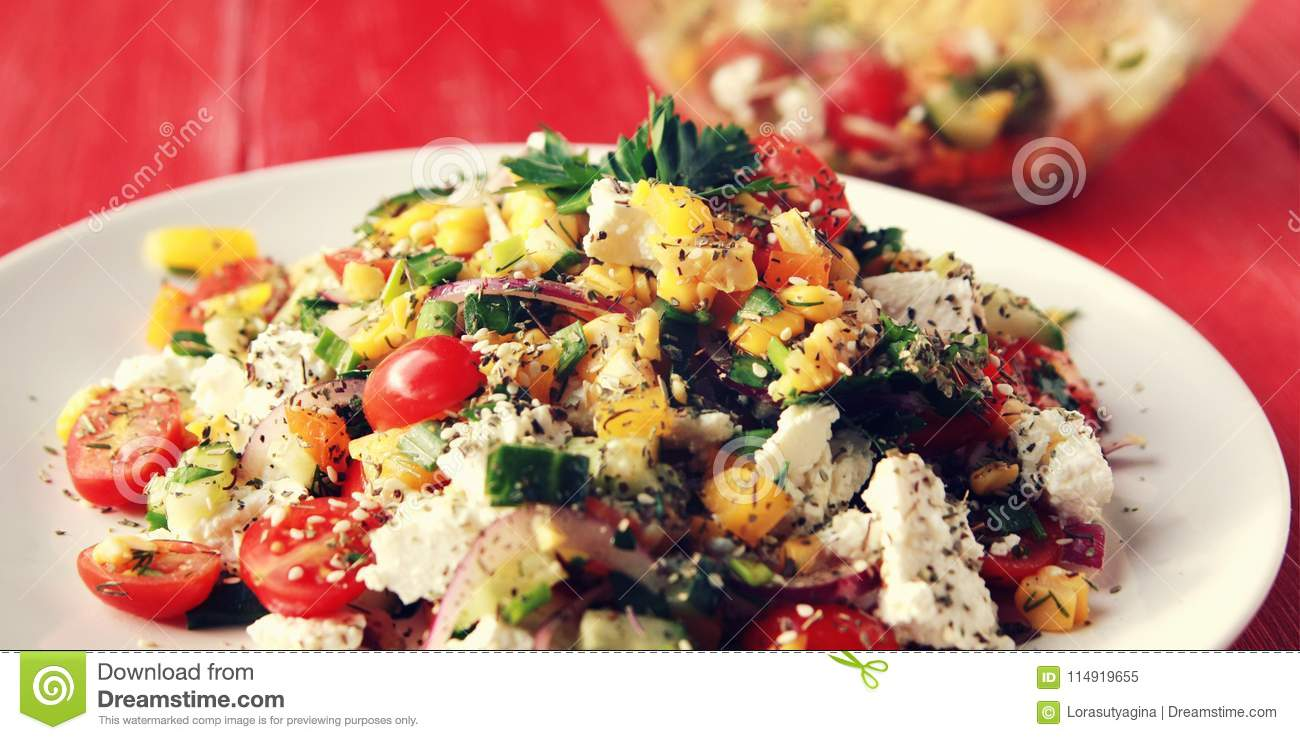 Surprising Colorful Vegetable Mix Simple Low Calories Salad Stock Home Interior And Landscaping Fragforummapetitesourisinfo