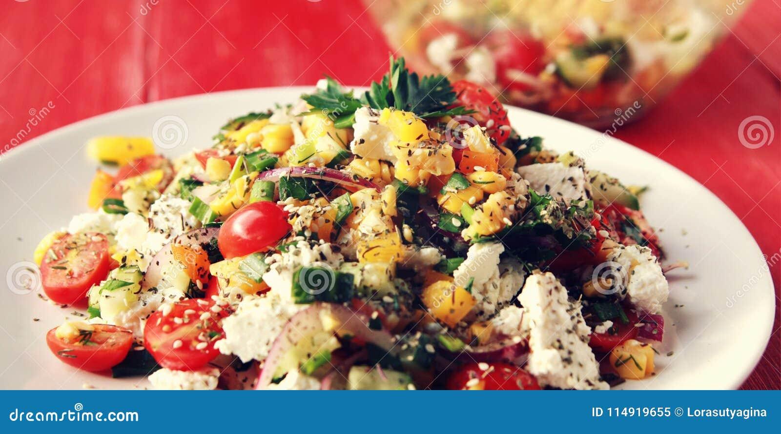 Sensational Colorful Vegetable Mix Simple Low Calories Salad Stock Interior Design Ideas Clesiryabchikinfo