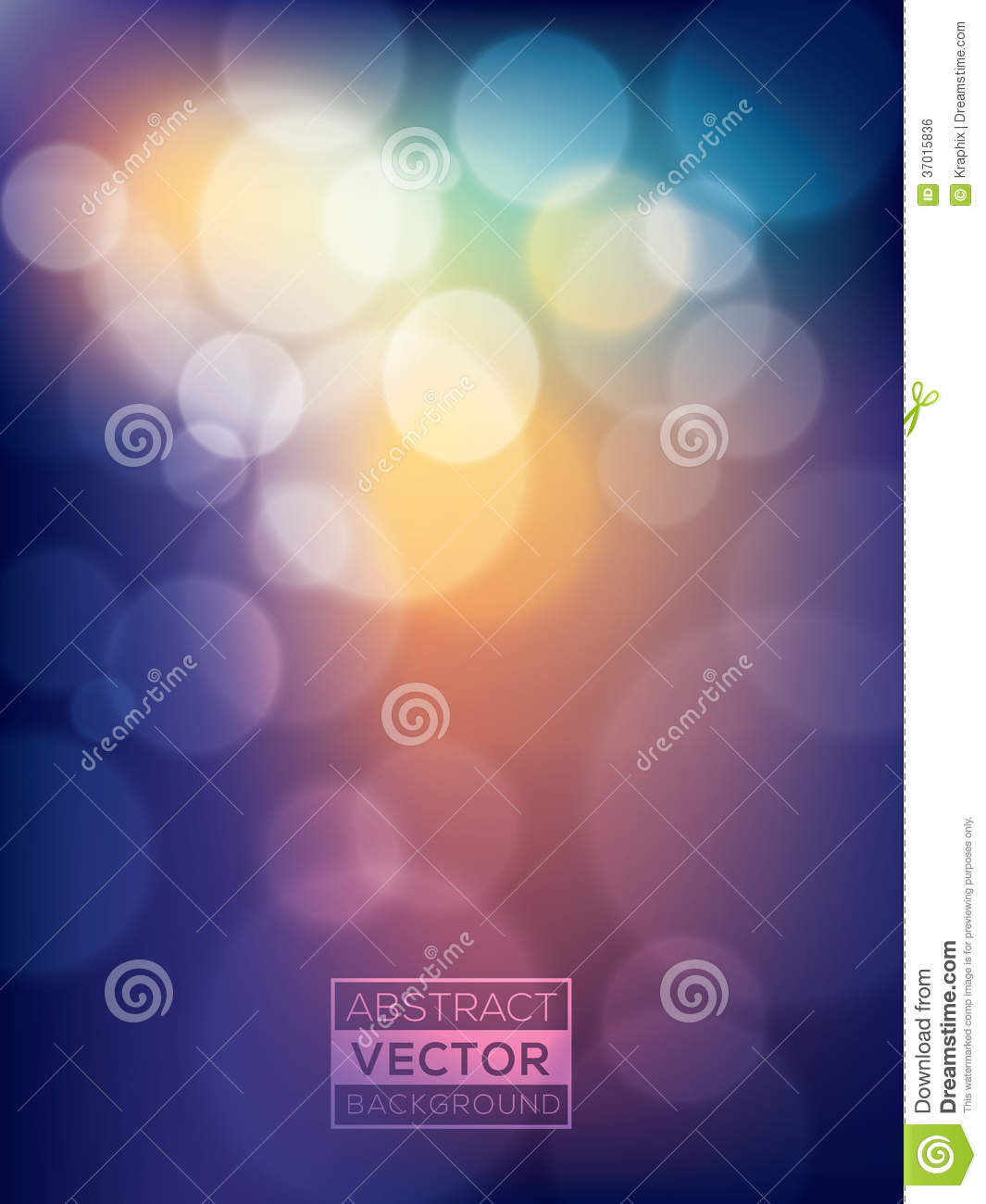 Colorful vibrant abstract Bokeh Background