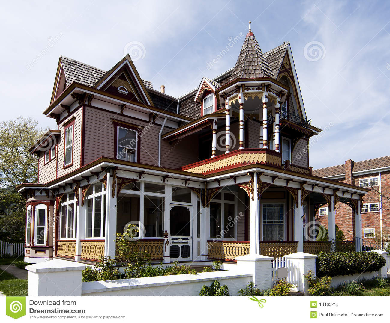 Colorful victorian style house stock image image 14165215 for Victoria home builders