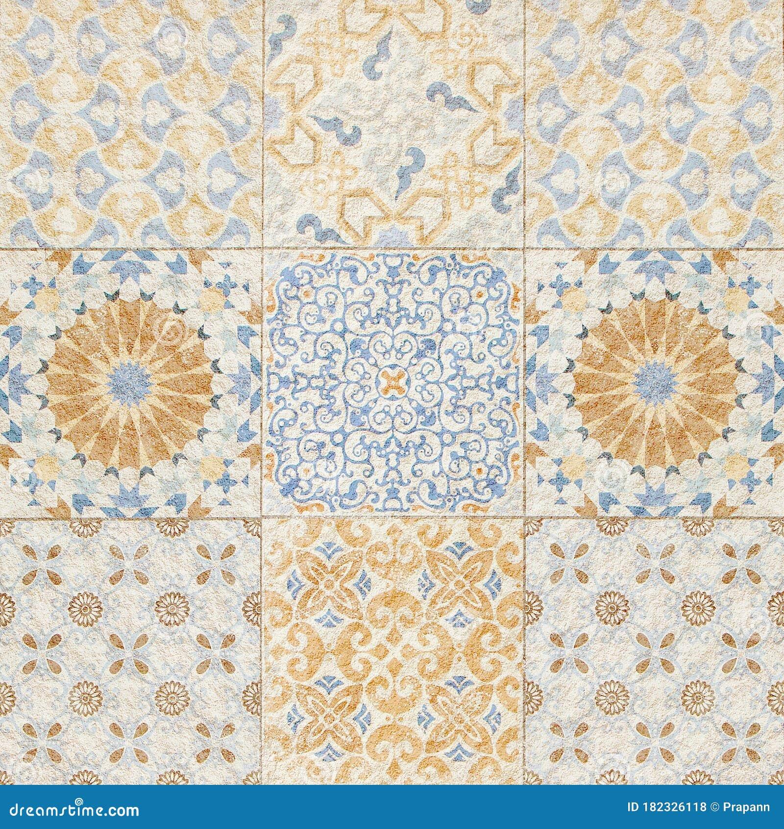 A Colorful Vintage Ceramic Tiles Wall Decoration Stock Photo Image Of Design Vintage 182326118