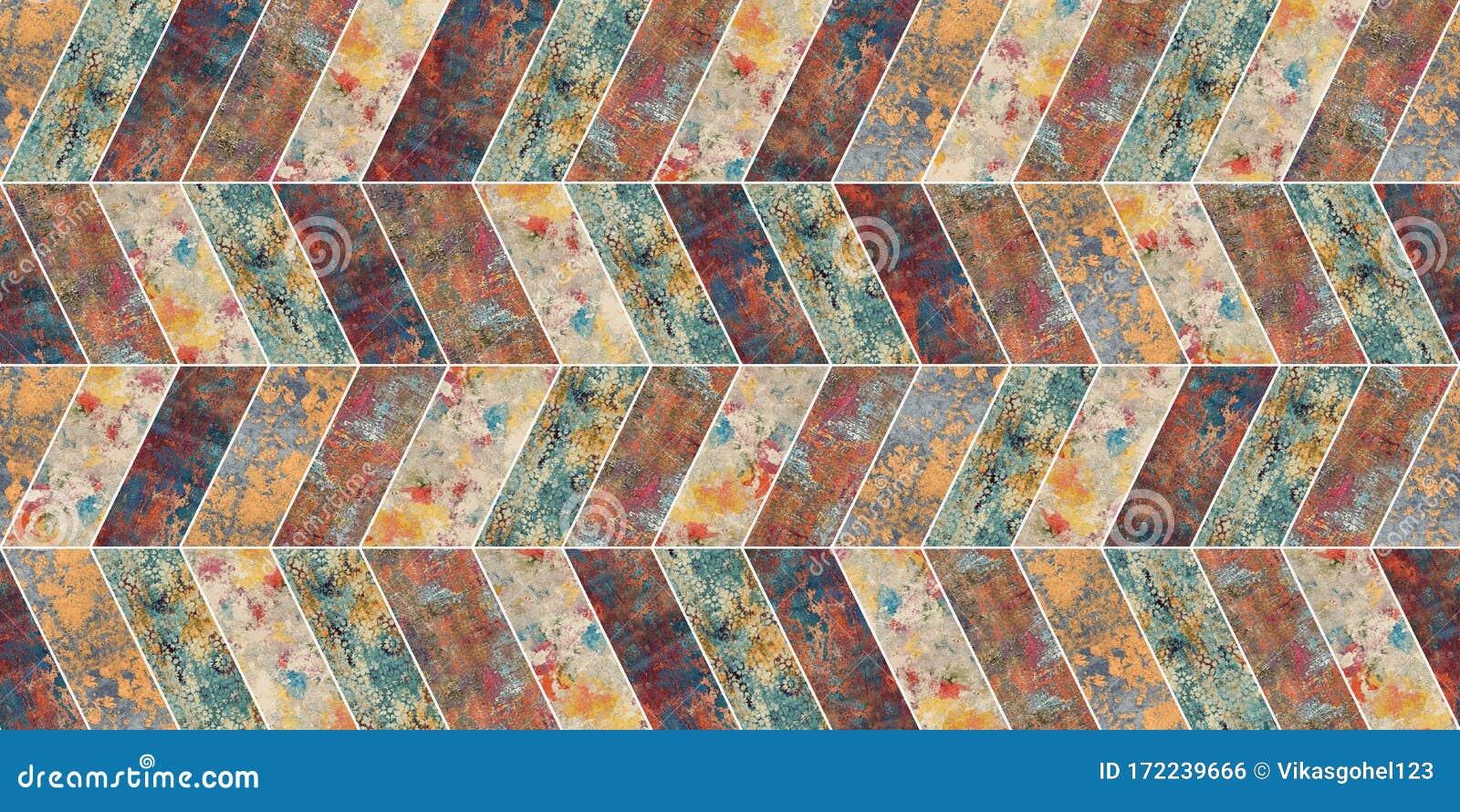 Colorful Vintage Ceramic Tiles Wall Decoration Portuguese Decorative Design Modern Bathroom And Living Room Design Structure Moro Stock Illustration Illustration Of Colorful Hand 172239666