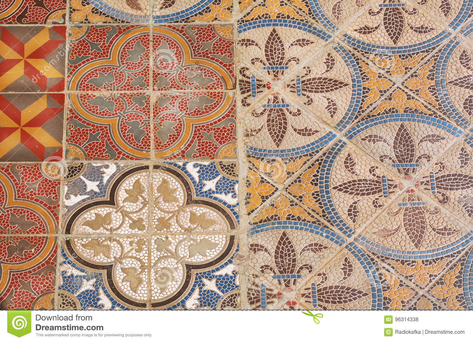 Patterned ceramic tile tiles 20x20 patterned ceramic tile royaltyfree stock photo download colorful vintage style ceramic tile retro patterned doublecrazyfo Choice Image