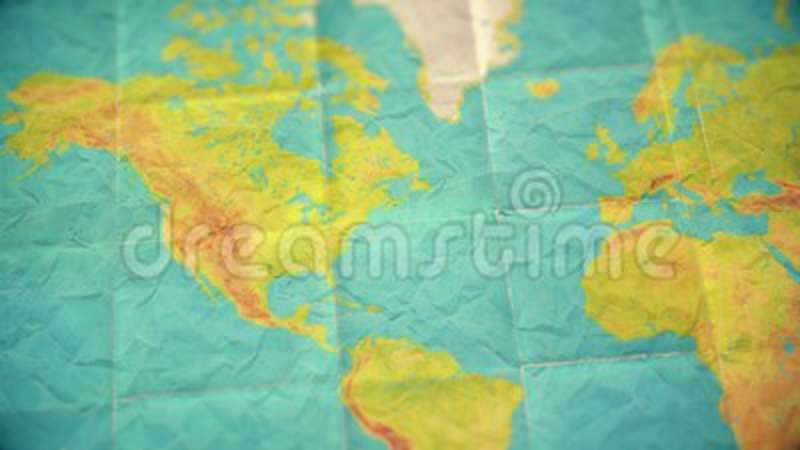 Colorful vintage world map zoom in to north america blank colorful vintage world map zoom in to north america blank version stock video video of stain australia 118567801 gumiabroncs Images