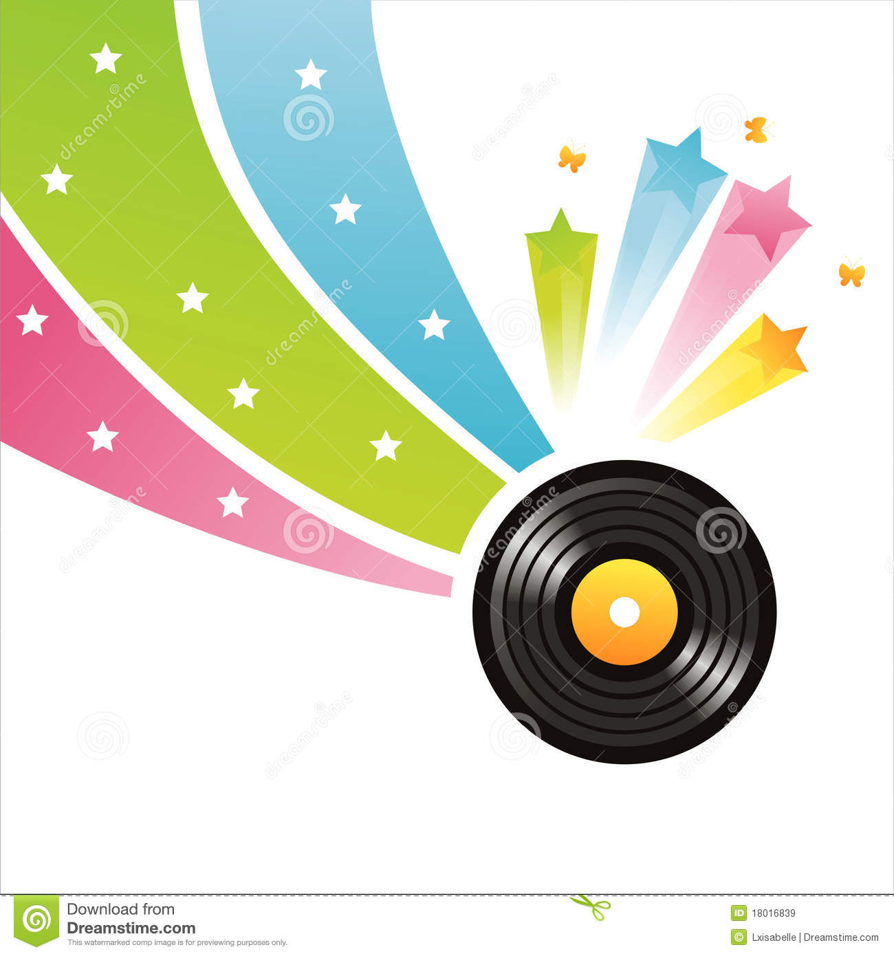 Colorful Vinyl Record Background Stock Vector
