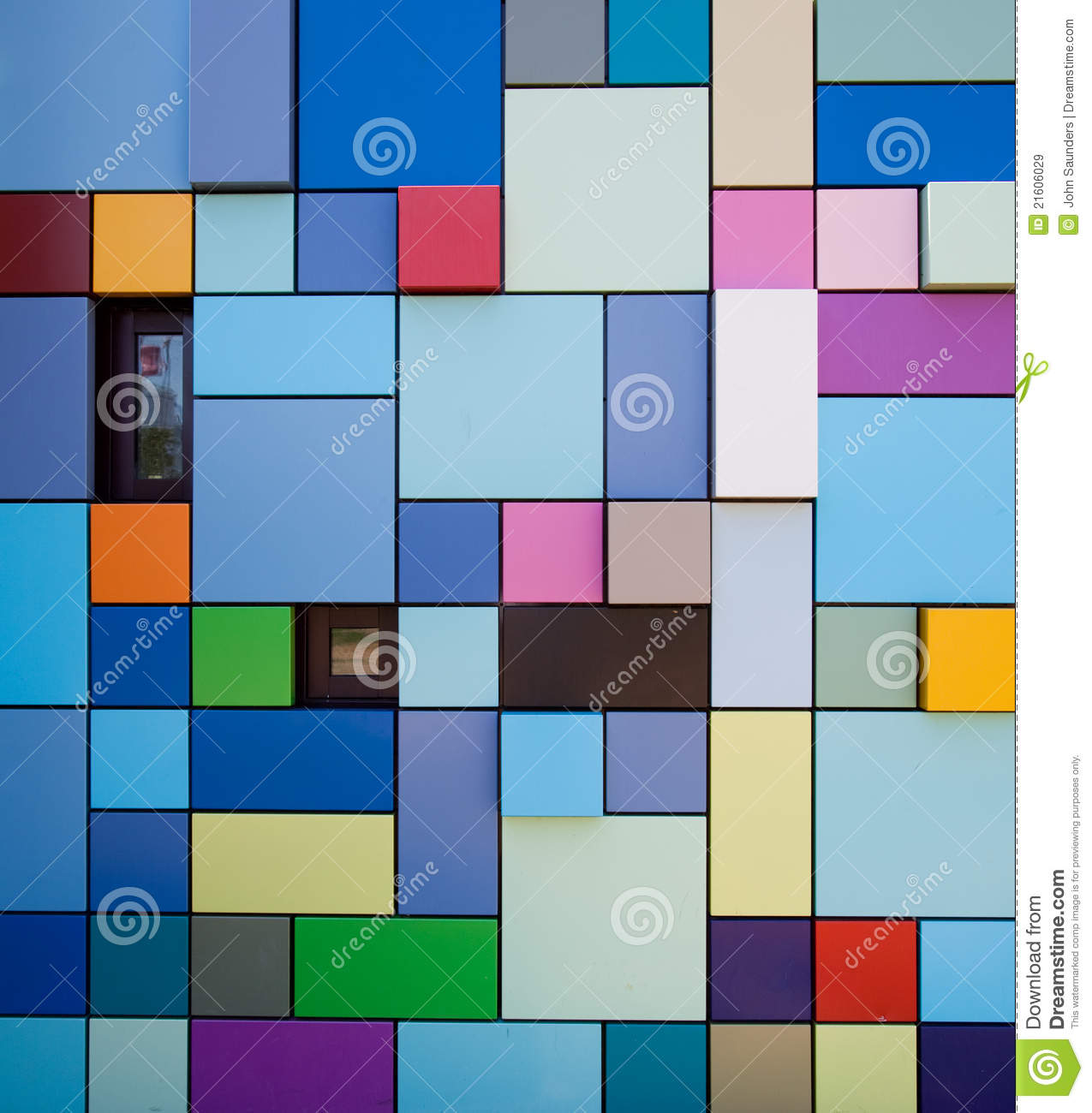 Colorful Wall Design Royalty Free Stock Images Image