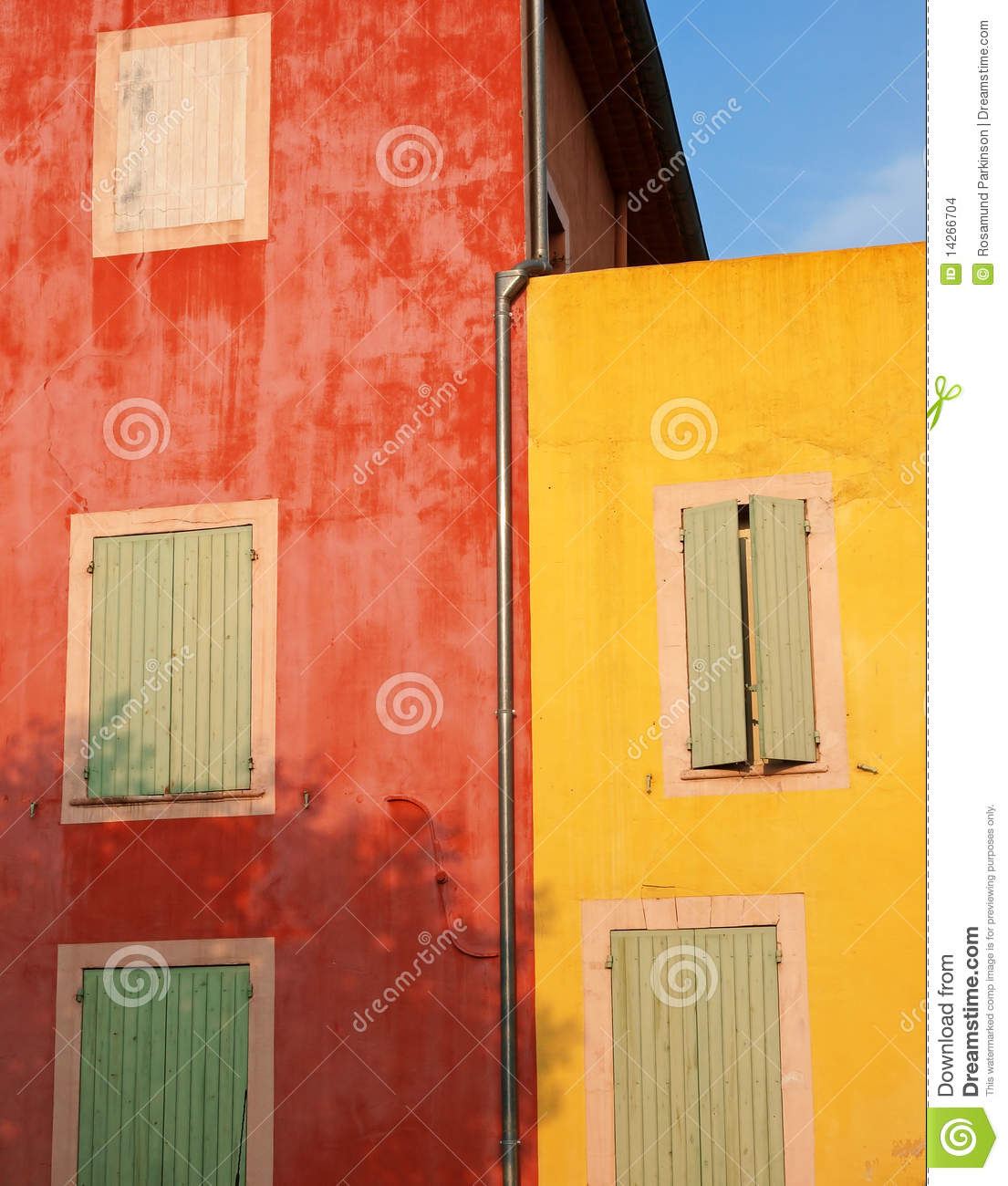 Colorful Walls Of Roussillon, France Stock Photo - Image of rosamund ...